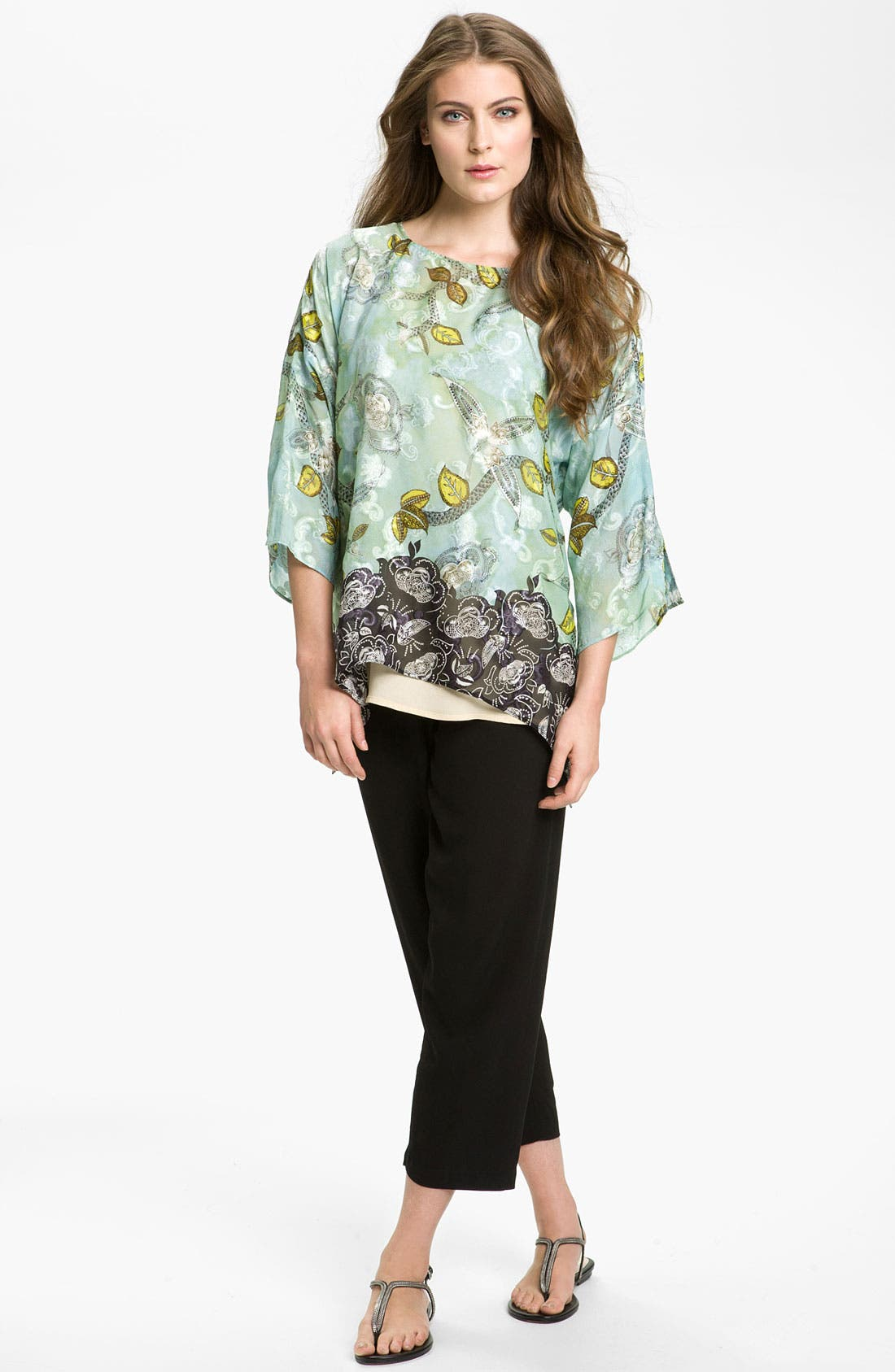Alternate Image 4  - Citron Crewneck Silk Blend Tunic