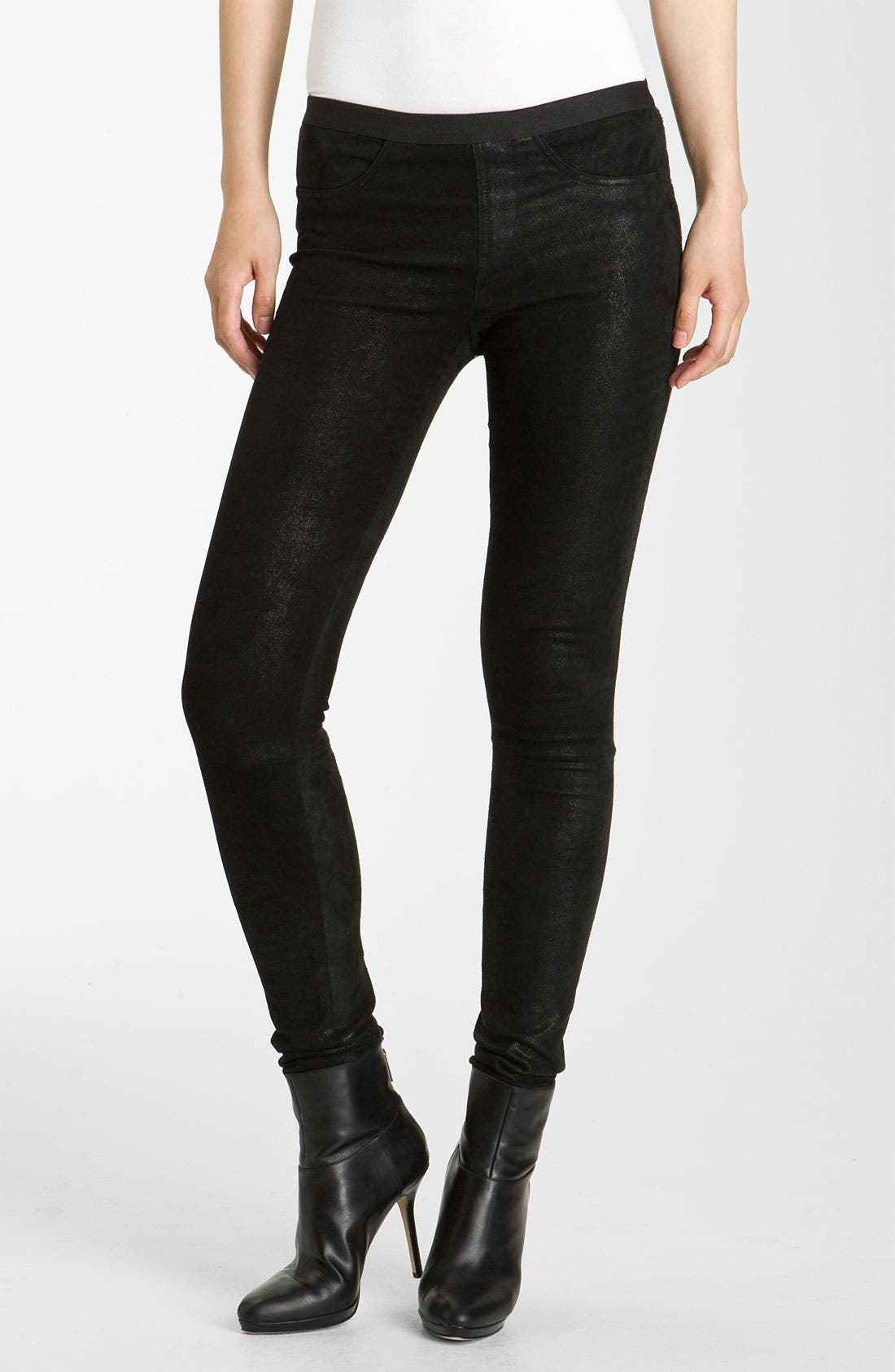 Main Image - Helmut Lang Patina Lambskin Leather Leggings