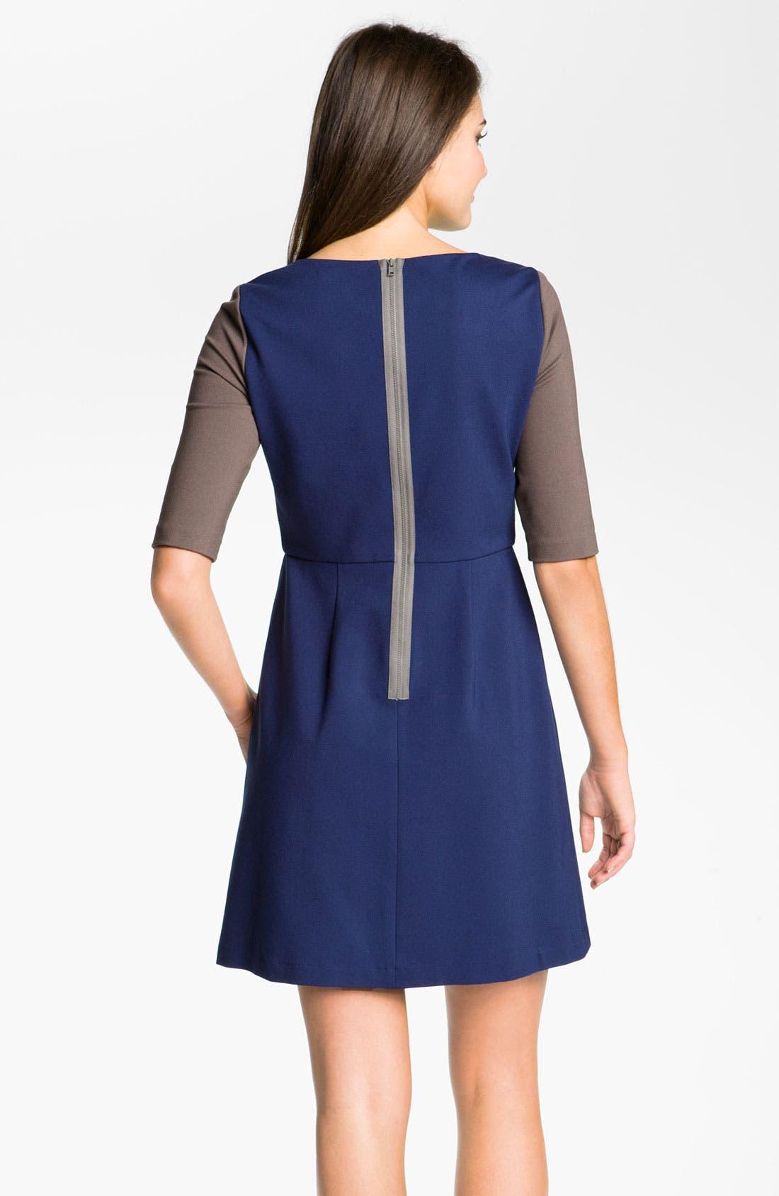 Alternate Image 2  - Suzi Chin for Maggy Boutique Colorblock Ponte Dress