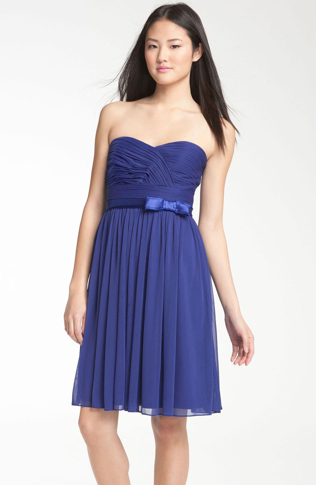 Main Image - ML Monique Lhuillier Bridesmaids Sweetheart Chiffon Dress (Nordstrom Exclusive)