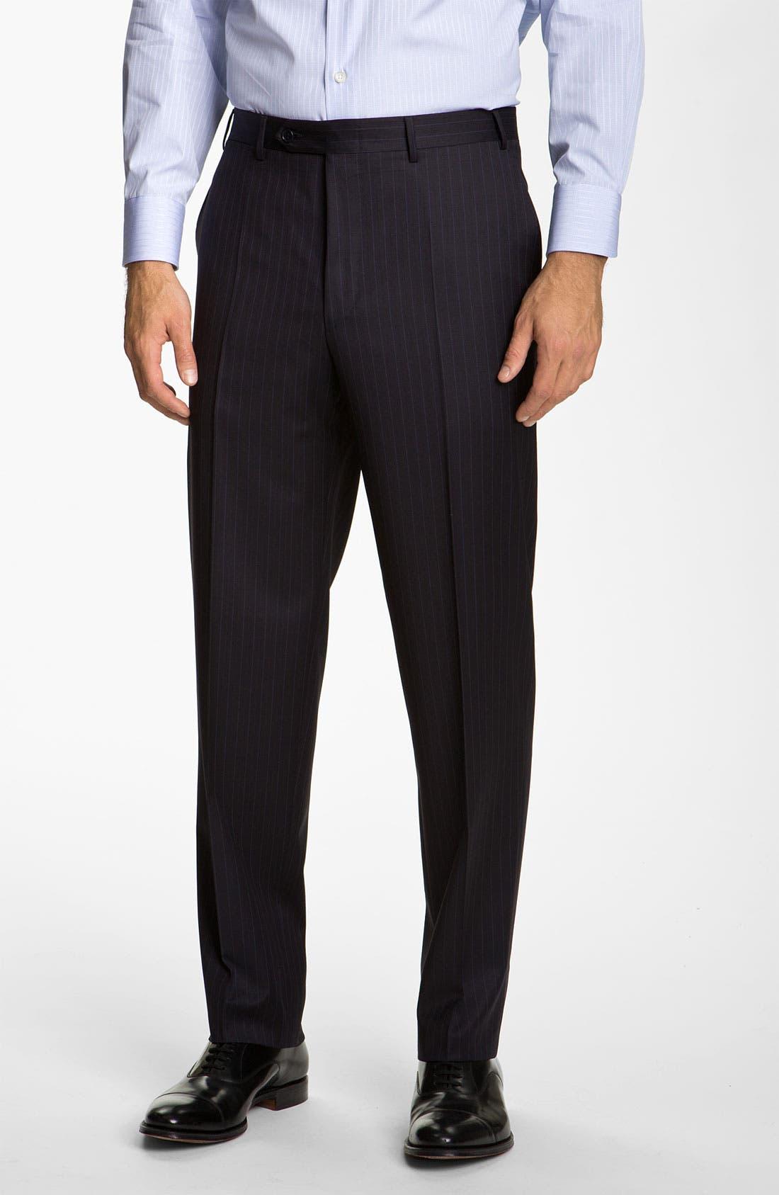 Alternate Image 4  - Canali Stripe Wool Suit