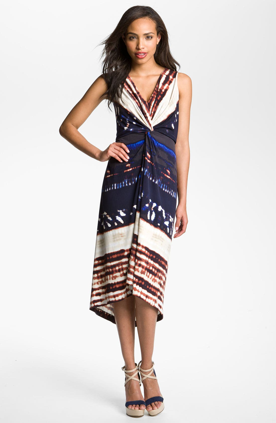 Alternate Image 1 Selected - Suzi Chin for Maggy Boutique Front Knot Jersey Dress