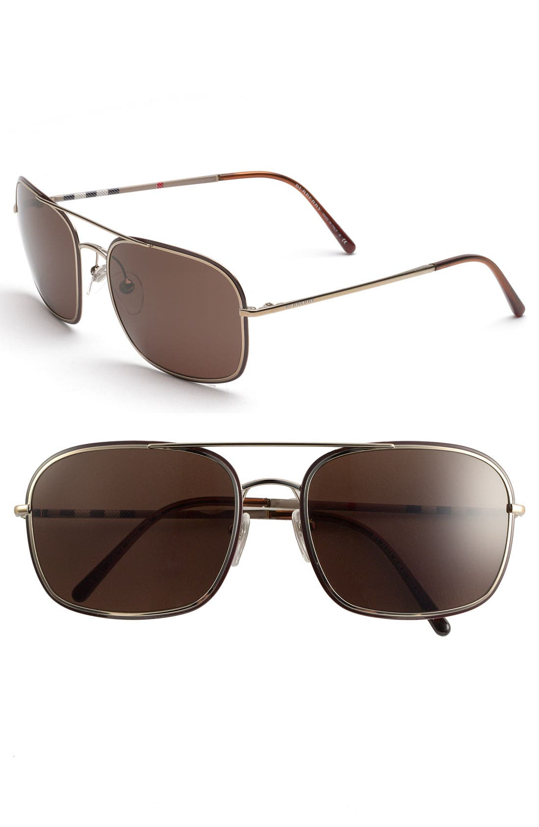 Alternate Image 1 Selected - Burberry Navigator Sunglasses