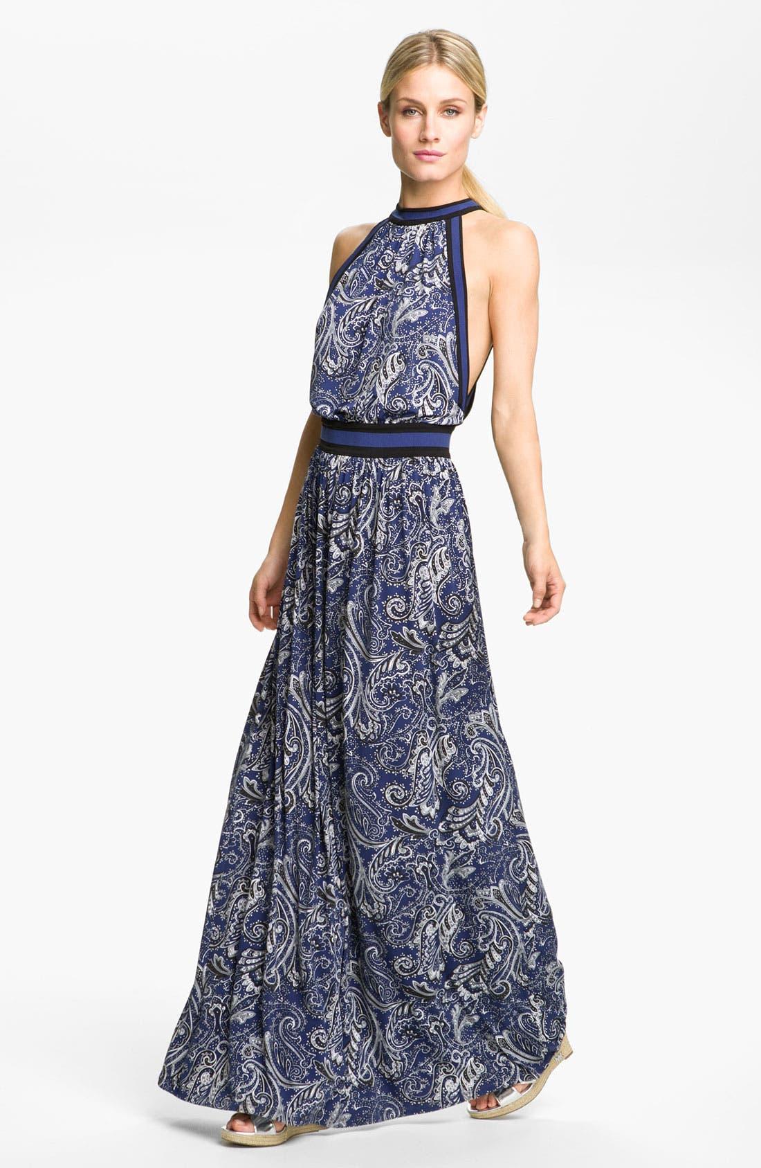 Main Image - MICHAEL Michael Kors Strap Back Maxi Dress
