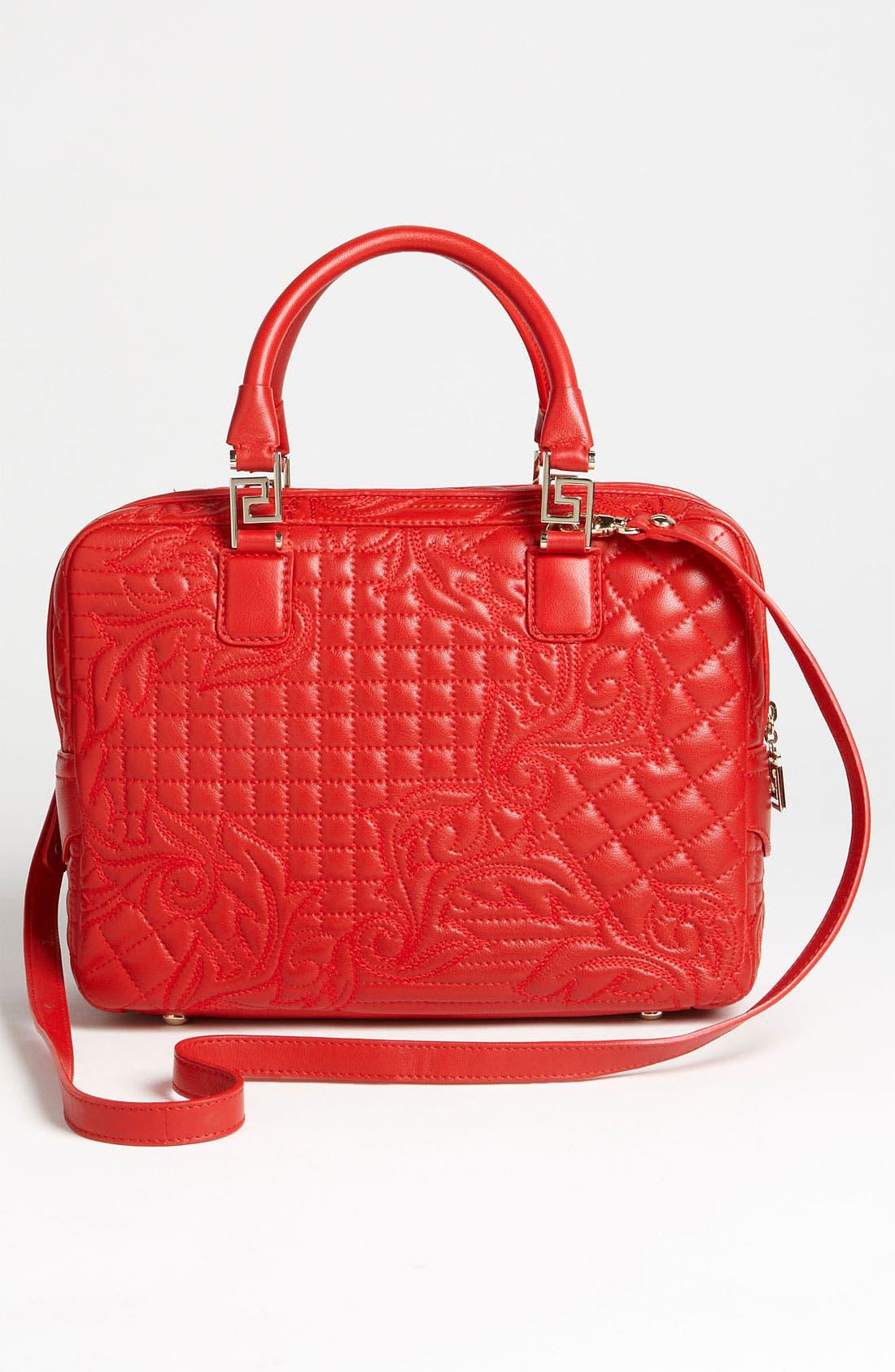 Alternate Image 4  - Versace 'Linea' Leather Satchel