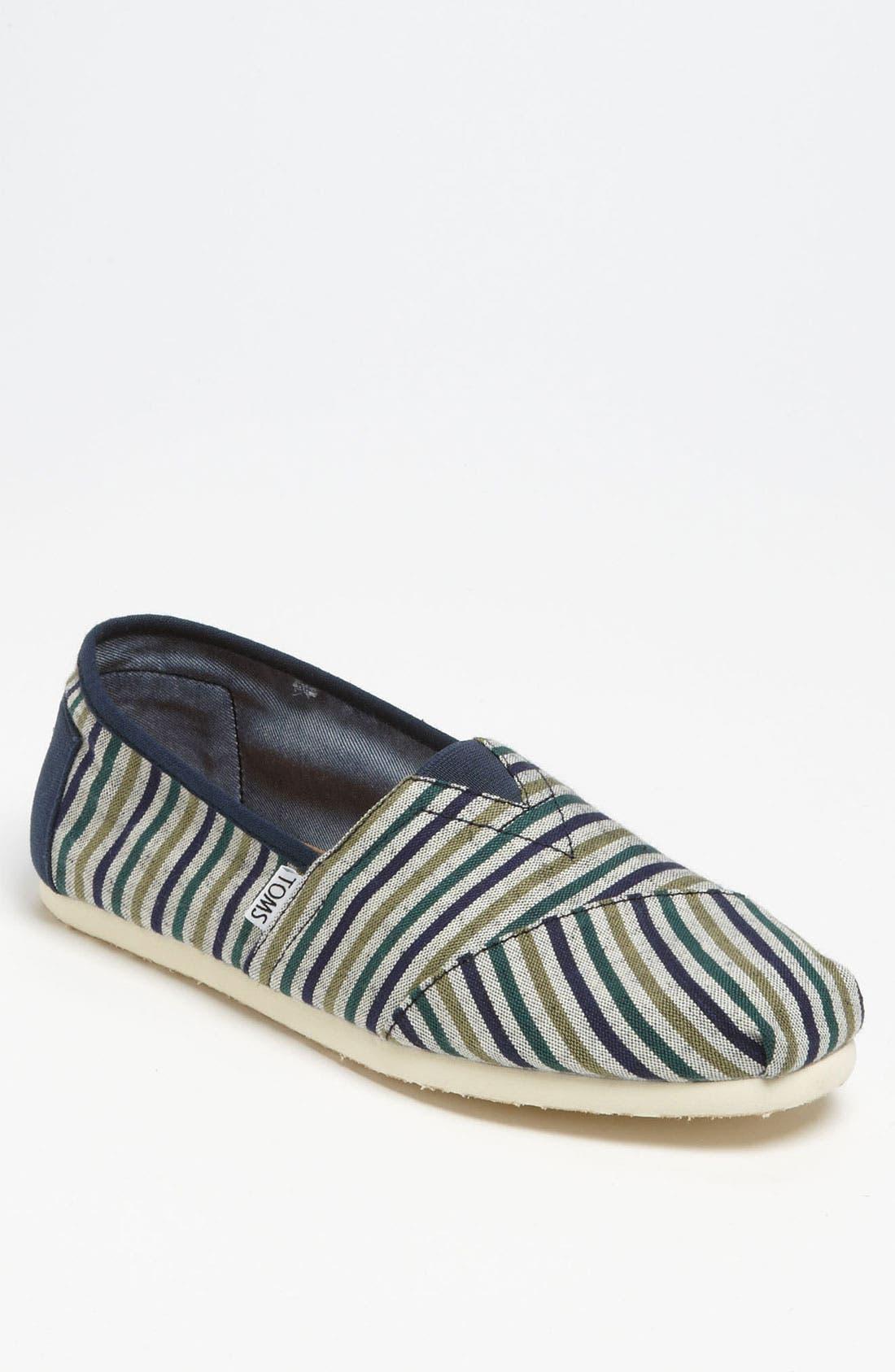 Main Image - TOMS 'Classic - Stripe' Slip-On (Men)