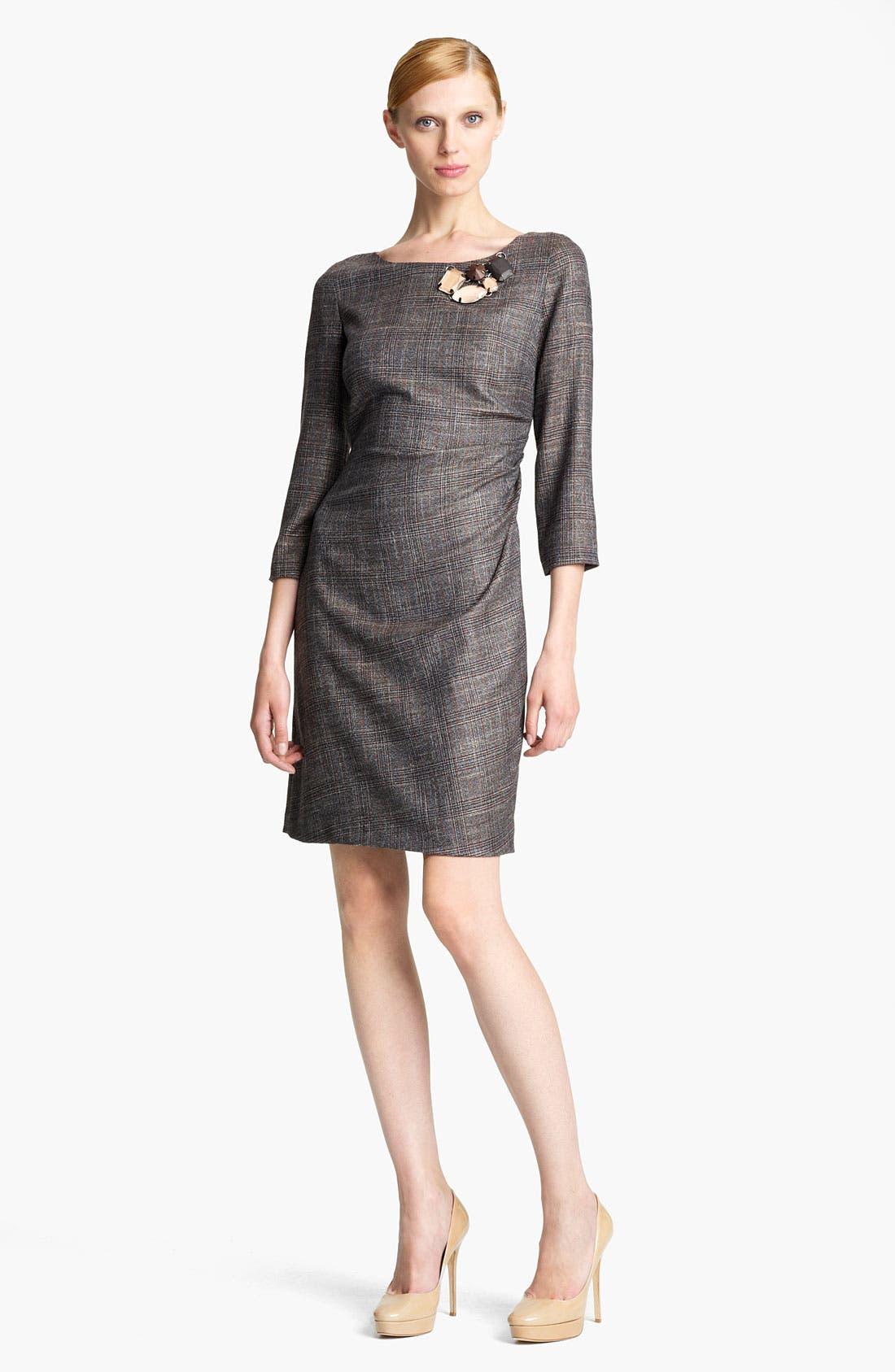 Main Image - Piazza Sempione Side Drape Madras Dress