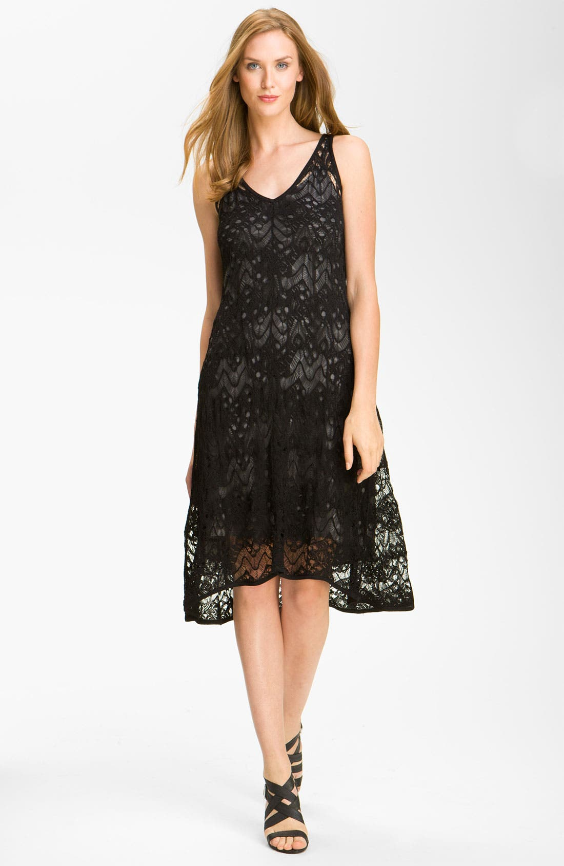 Alternate Image 1 Selected - Eileen Fisher Lace Tank Dress