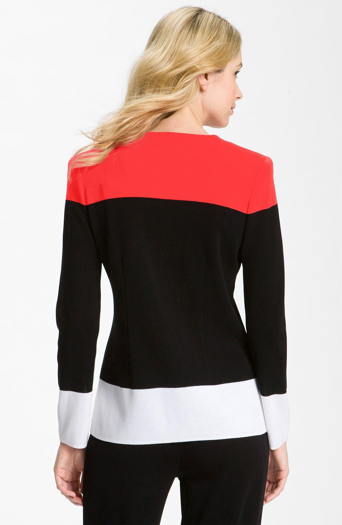Alternate Image 2  - Exclusively Misook Colorblock Jacket