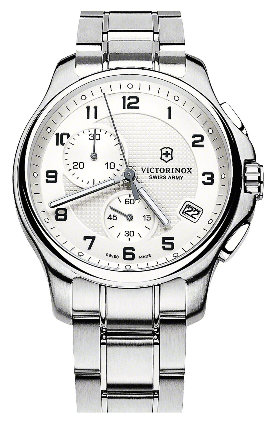 Main Image - Victorinox Swiss Army® 'Officer's' Chronograph Bracelet Watch, 42mm