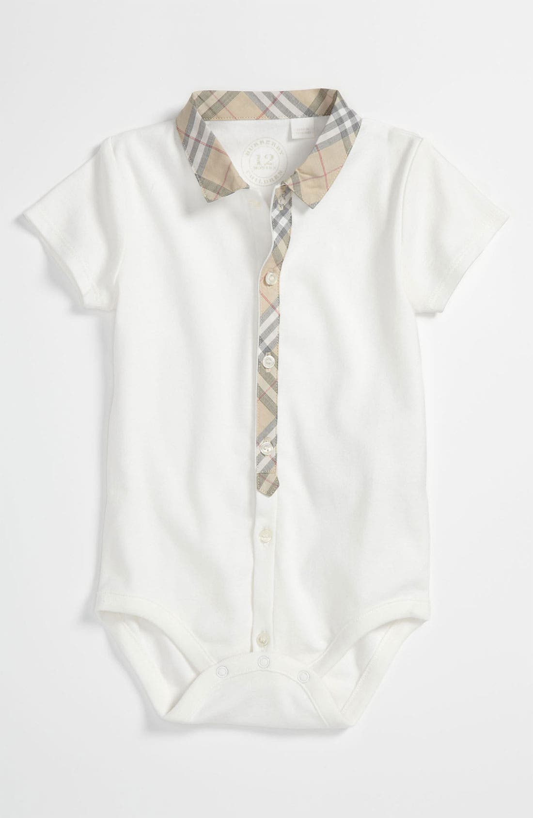 Alternate Image 1 Selected - Burberry Bodysuit (Baby)