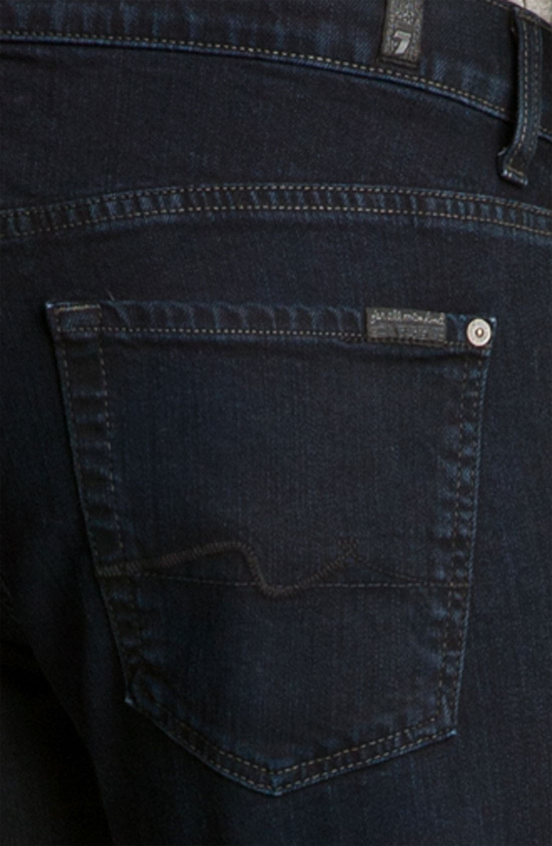 Alternate Image 4  - 7 For All Mankind® 'Brett' Bootcut Jeans (Autumn Eclipse)