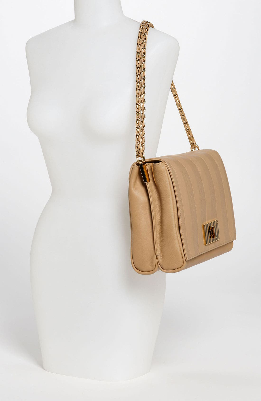 Alternate Image 2  - Fendi 'Paris Pequin - Large' Leather Shoulder Bag