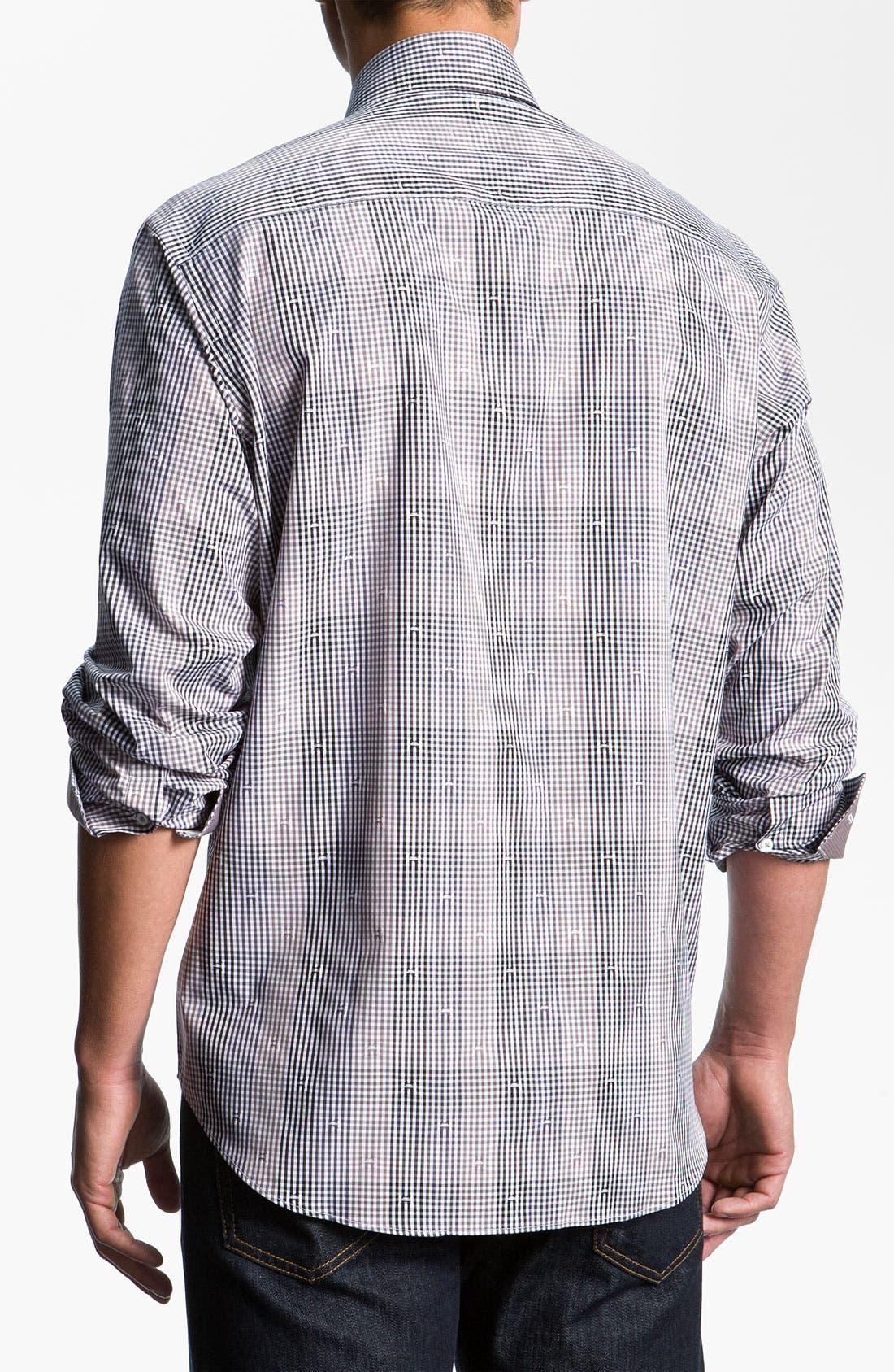 Alternate Image 3  - Bugatchi Uomo Classic Fit Sport Shirt