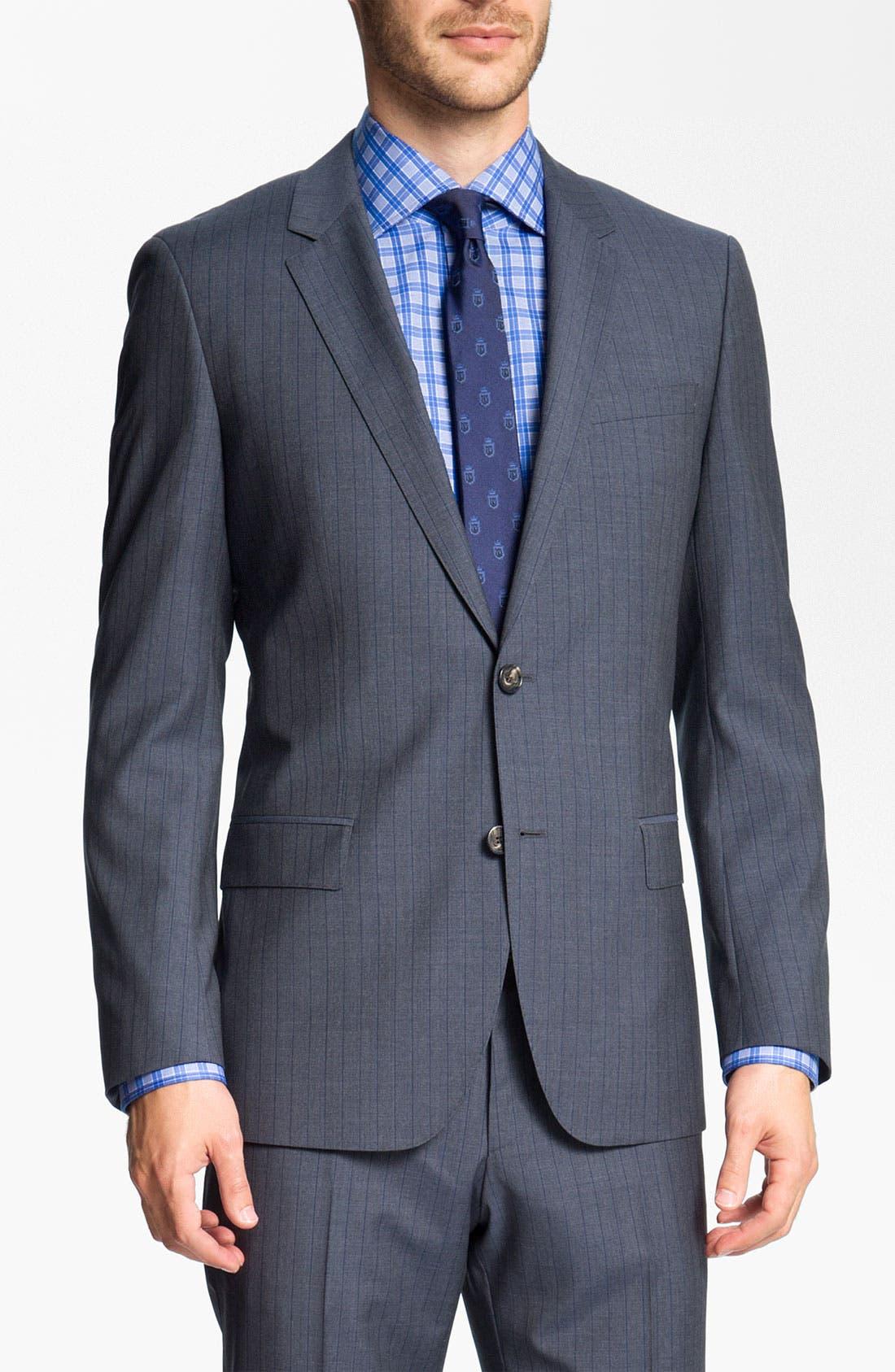 Alternate Image 1 Selected - BOSS Black 'Huge/Genius' Stripe Suit
