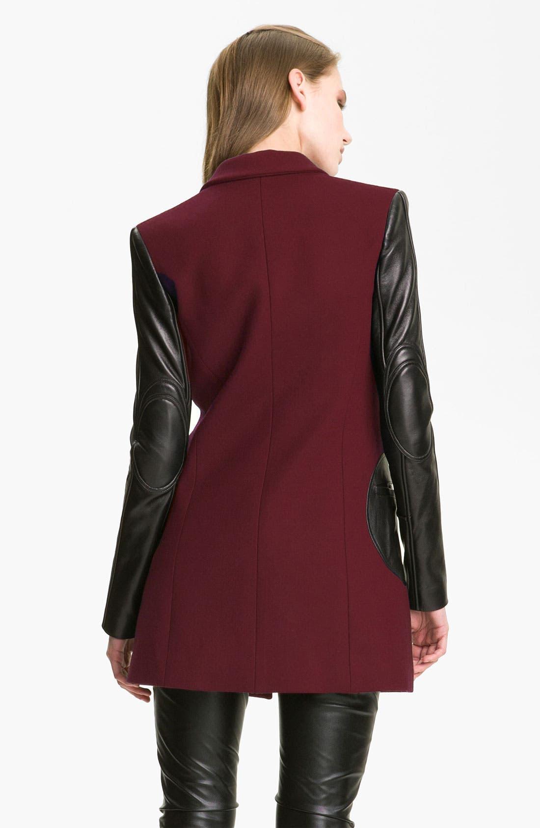 Alternate Image 2  - Versus Leather Sleeve Jacket