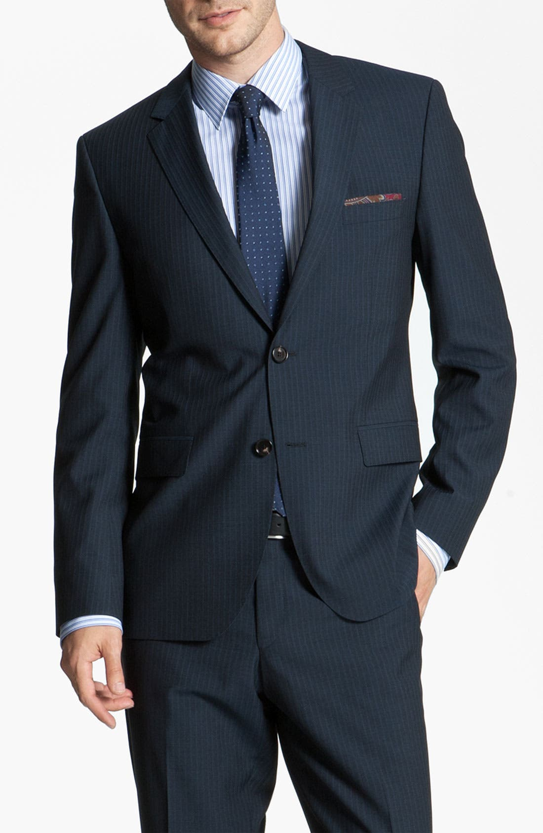 Alternate Image 1 Selected - BOSS Black 'James/Sharp' Trim Fit Suit