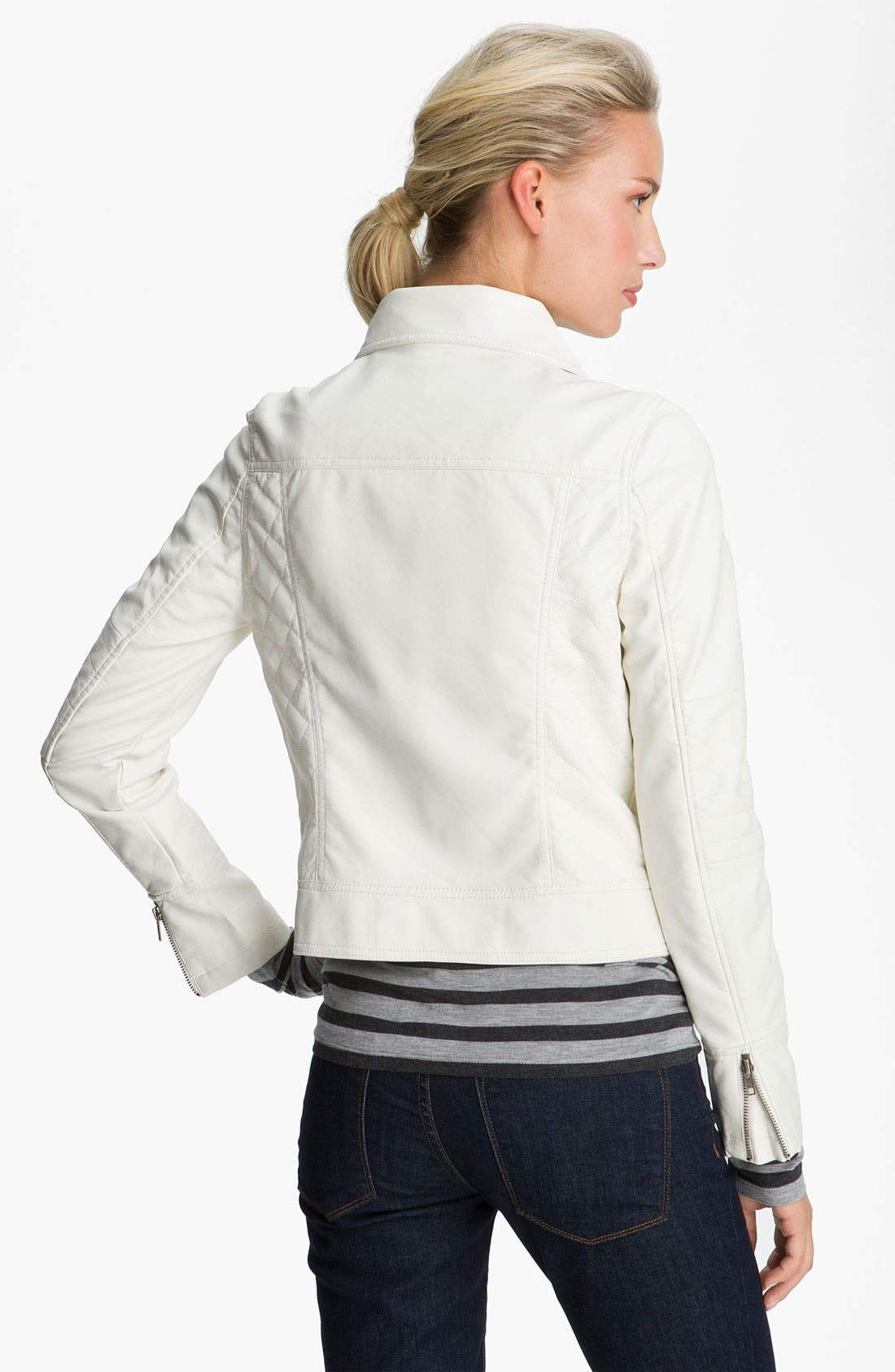 Alternate Image 2  - KUT from the Kloth Asymmetrical Zip Faux Leather Jacket
