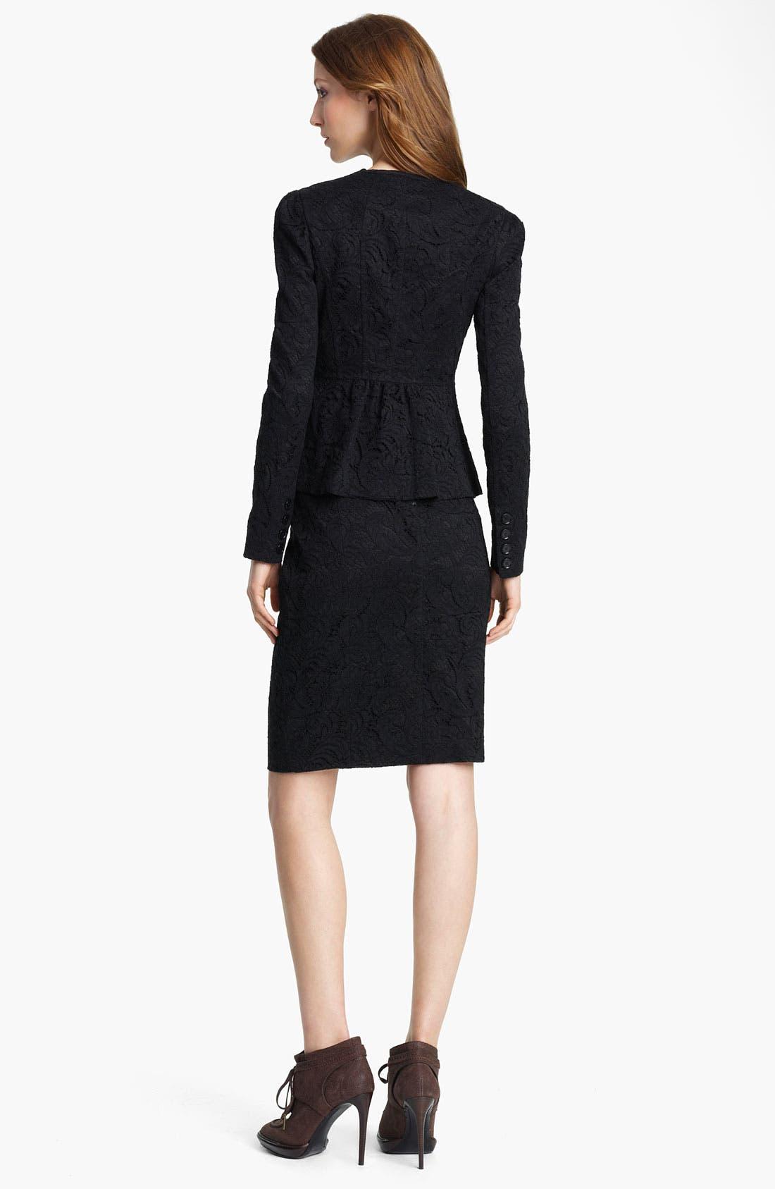 Alternate Image 2  - Burberry London Lace Jacket