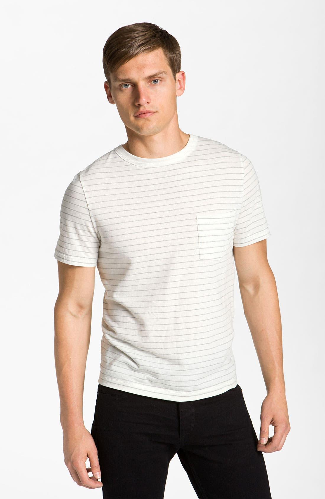 Alternate Image 1 Selected - rag & bone Stripe Pocket T-Shirt