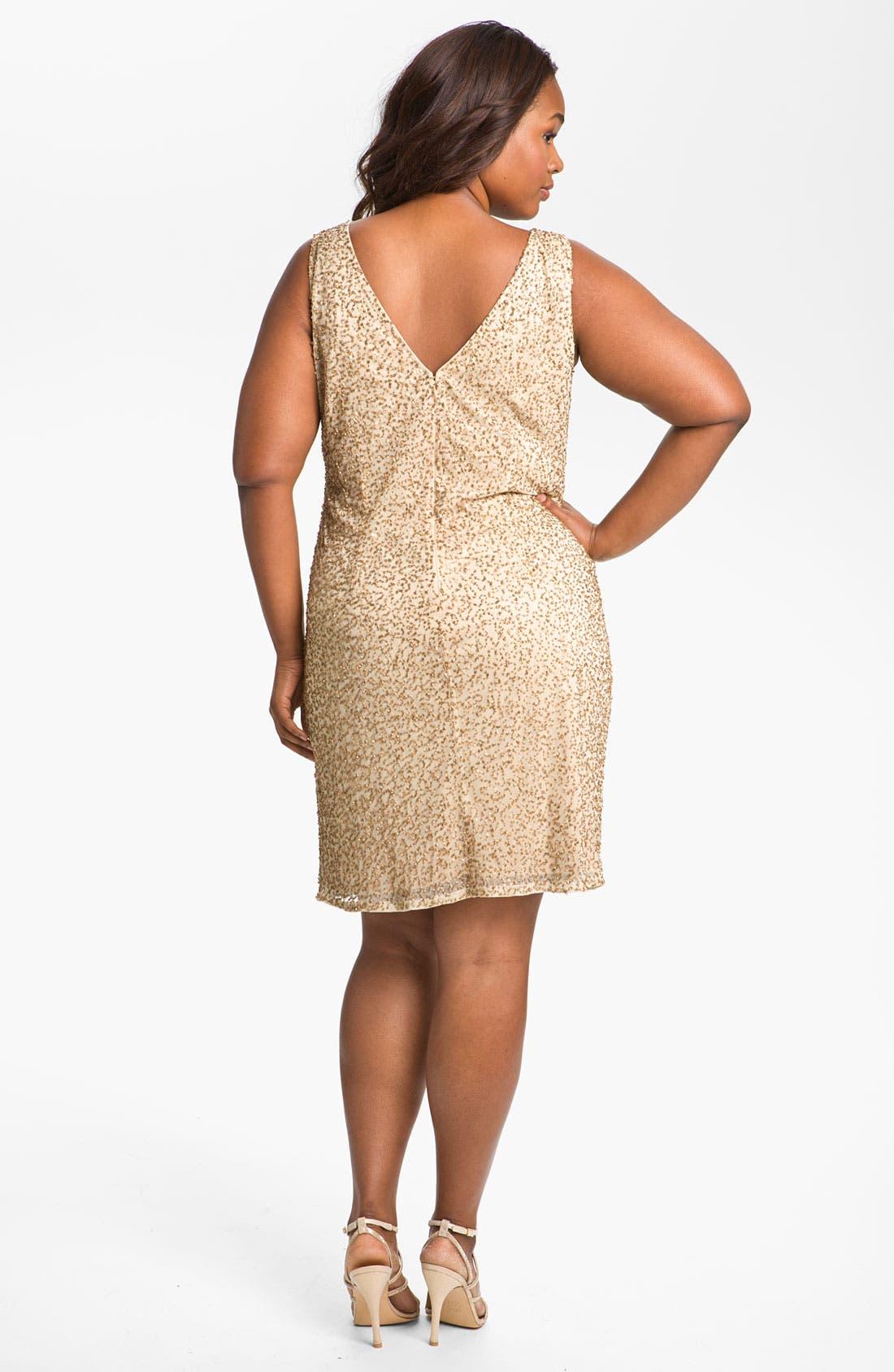 Alternate Image 2  - JS Collections Beaded Sheath Dress & Jacket (Plus)