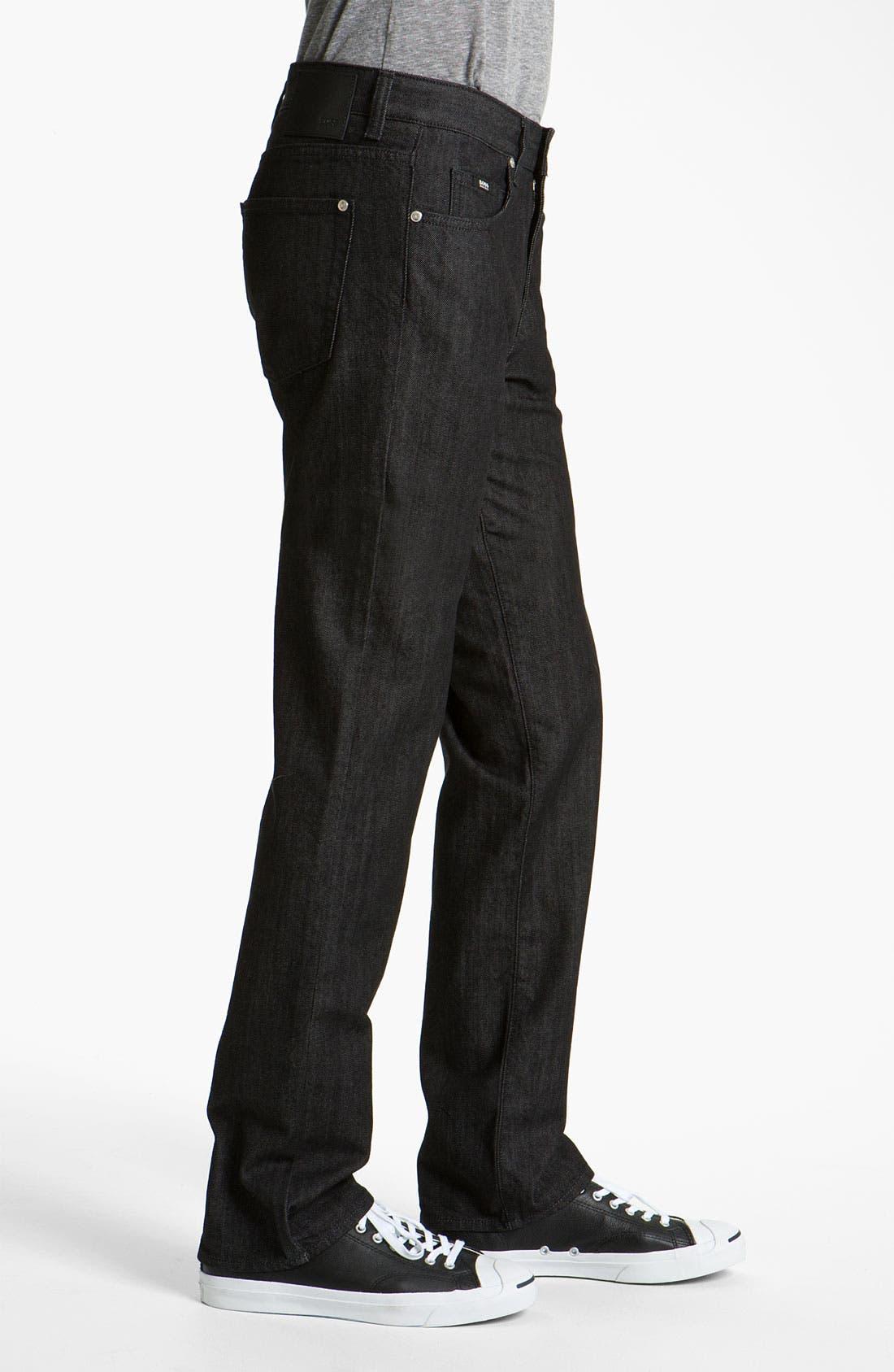Alternate Image 3  - BOSS Black 'Kansas' Straight Leg Jeans