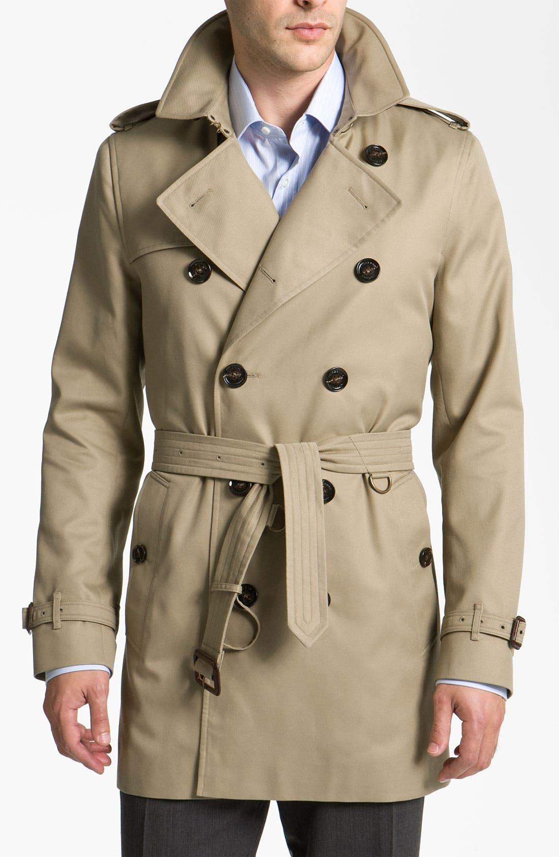 Alternate Image 1 Selected - Burberry London Trim Fit Raincoat