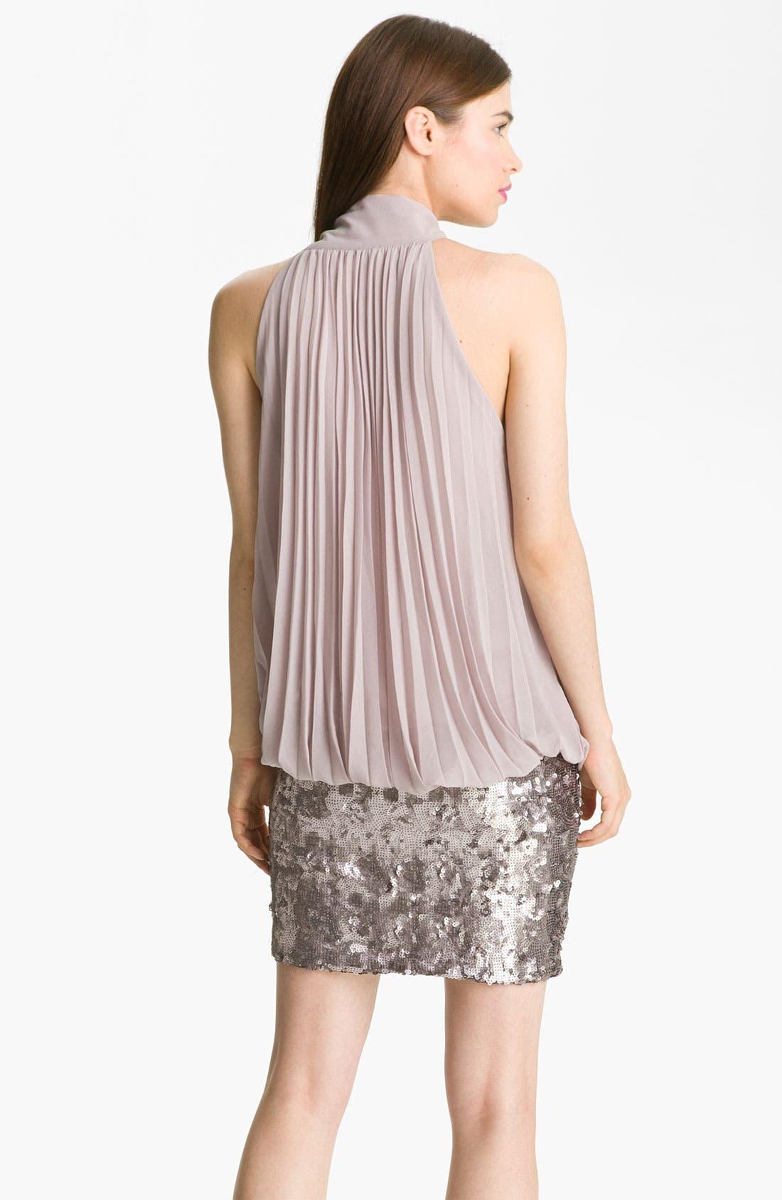 Alternate Image 2  - Alberto Makali Pleated Blouson Dress
