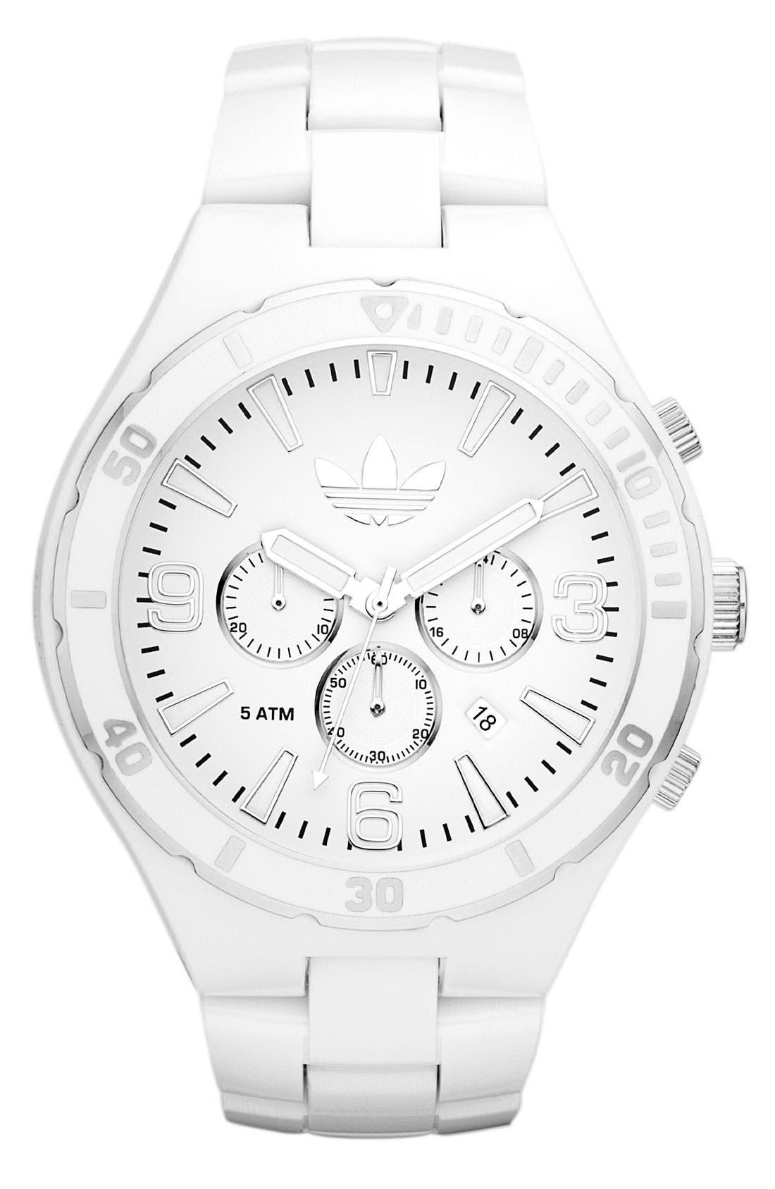 Alternate Image 1 Selected - adidas Originals 'Melbourne' Large Chronograph Bracelet Watch, 50mm