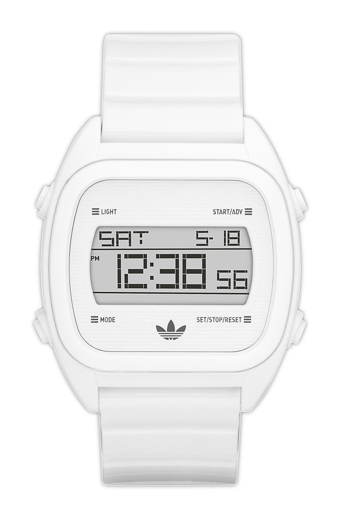 Alternate Image 1 Selected - adidas Originals 'Sydney' Digital Resin Strap Watch, 40mm