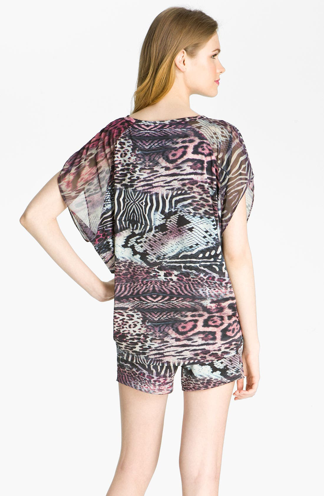 Alternate Image 2  - Nicole Miller 'Wild Animal' Lounge Tee