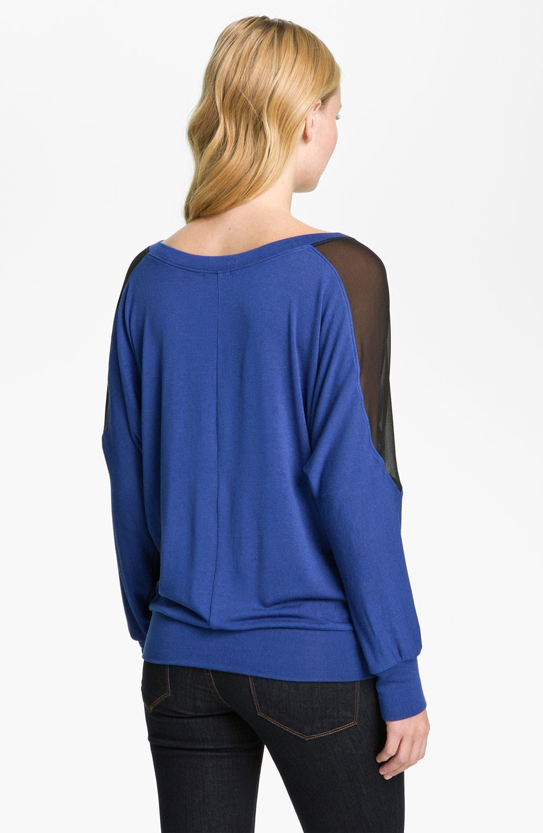 Alternate Image 2  - Cielo Sheer Shoulder V-Neck Top