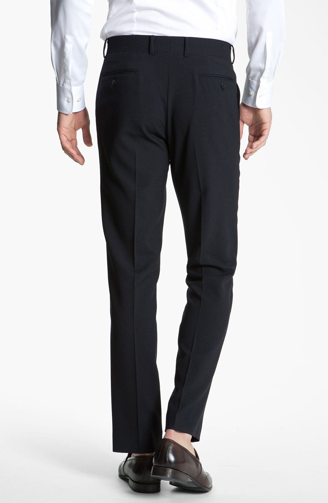 Alternate Image 2  - John Varvatos Star USA Slim Fit Flat Front Wool Trousers