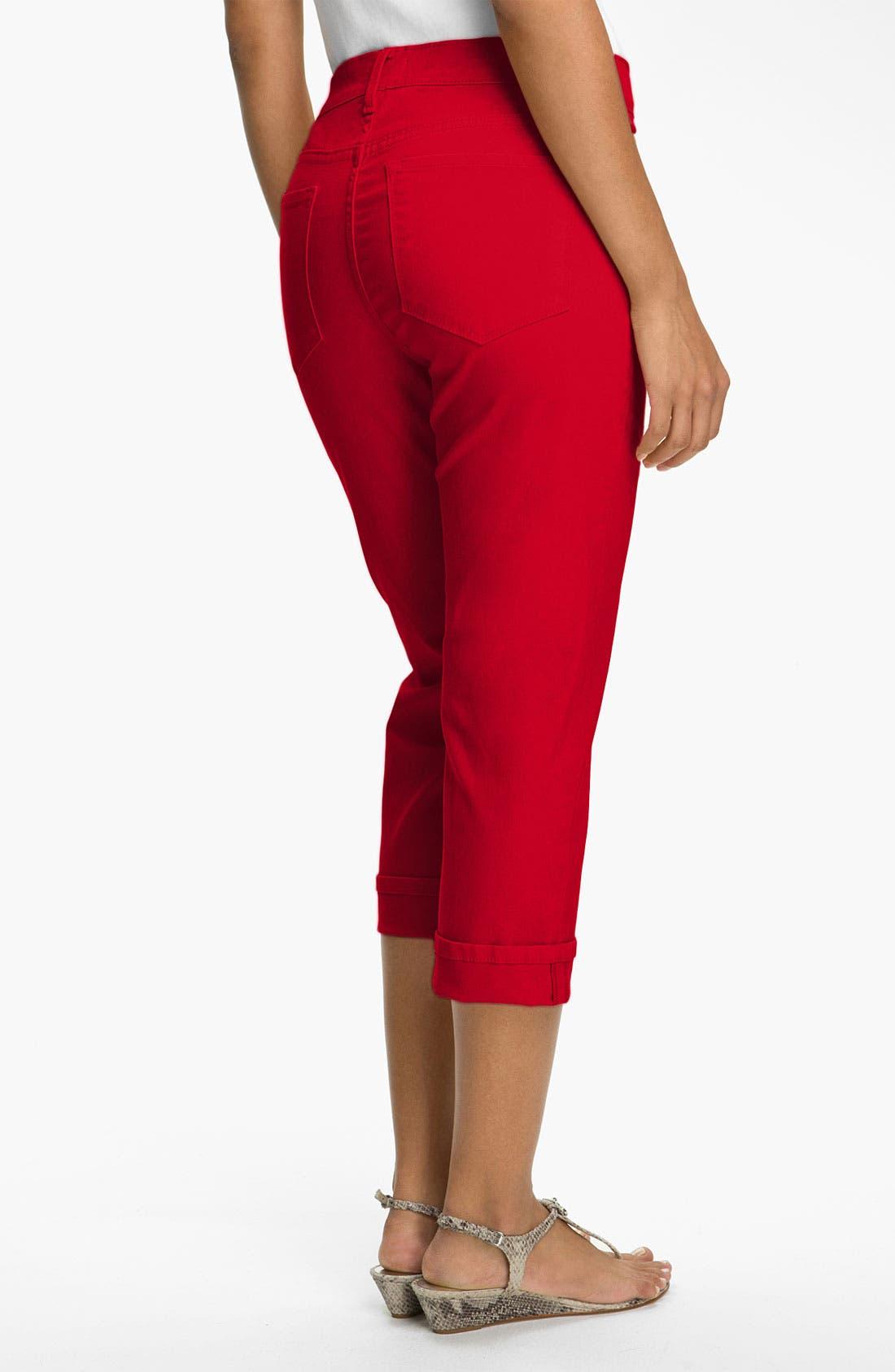 Alternate Image 2  - NYDJ 'Edna' Colored StretchTwill Crop Jeans