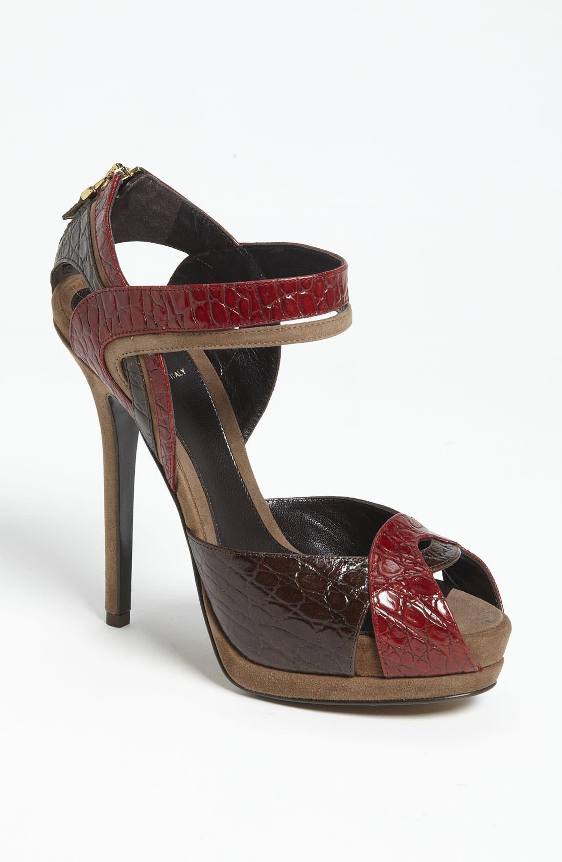 Alternate Image 1 Selected - Fendi 'Let Me In' Ankle Strap Sandal