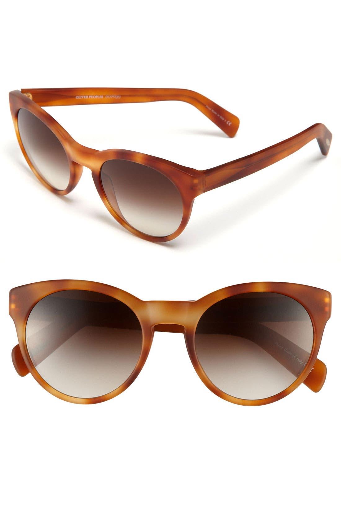 Alternate Image 1 Selected - Oliver Peoples 'Alivia' 52mm Sunglasses