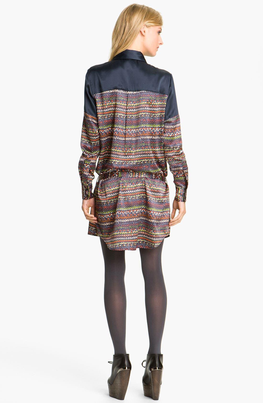 Alternate Image 2  - Thakoon Addition Print Stretch Satin Shirtdress