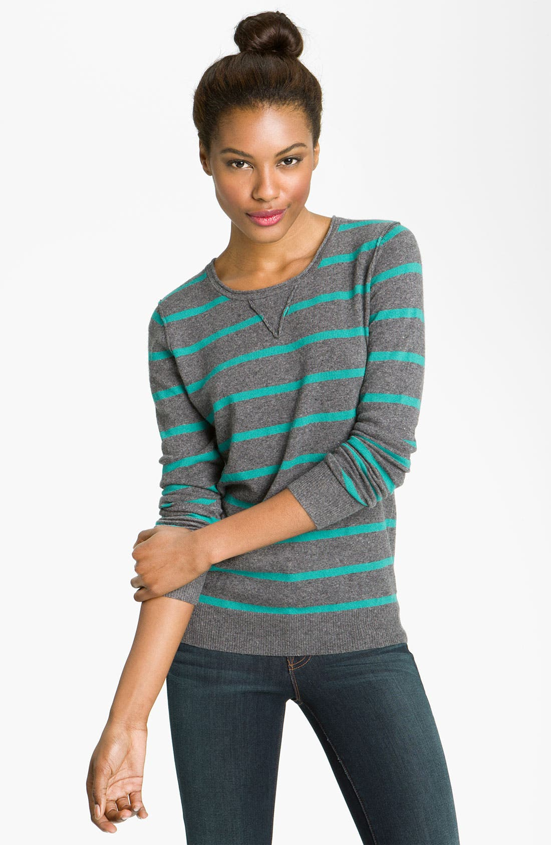 Alternate Image 1 Selected - Press Stripe Sweater