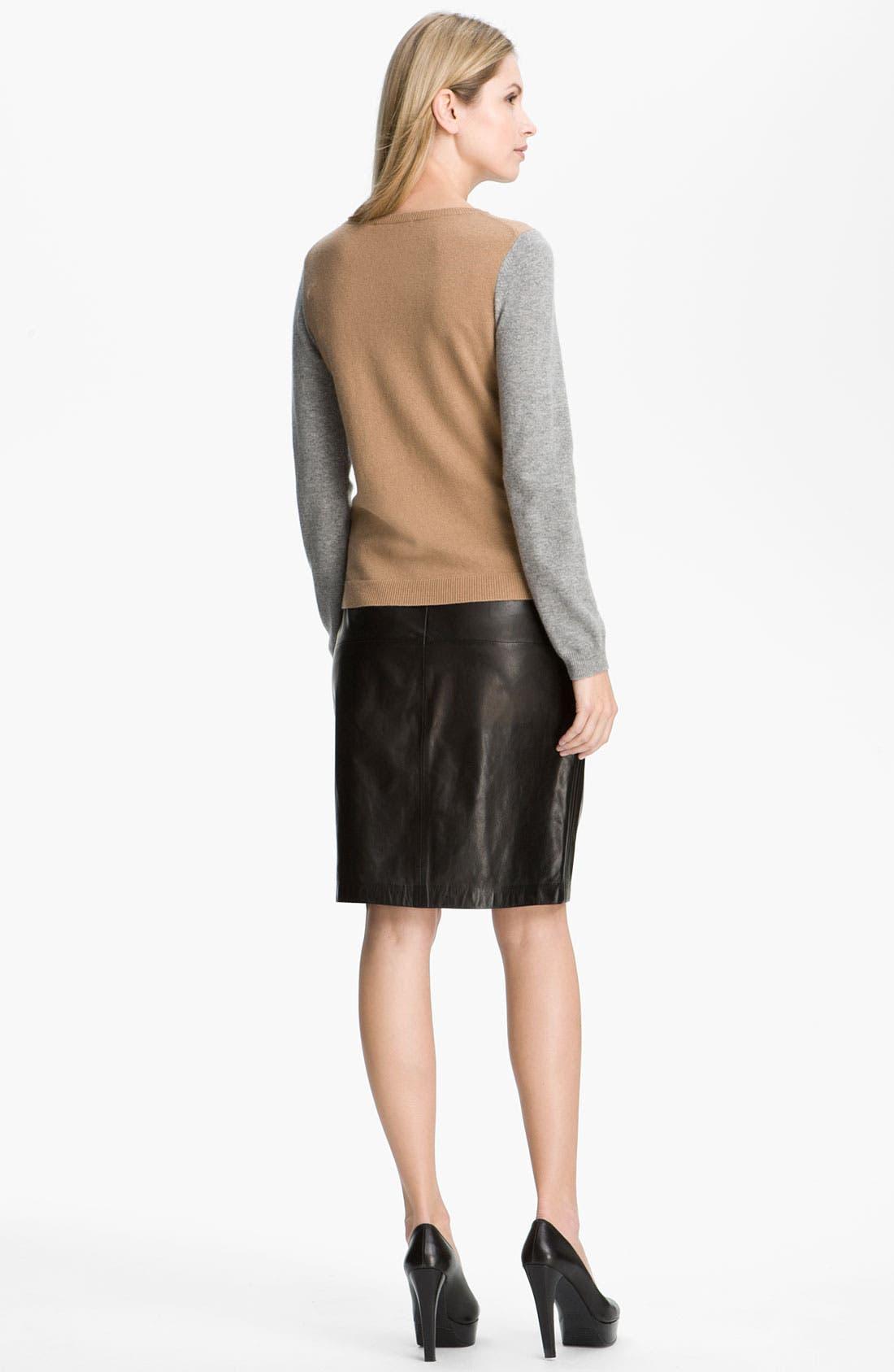Alternate Image 5  - BOSS Black Leather Skirt