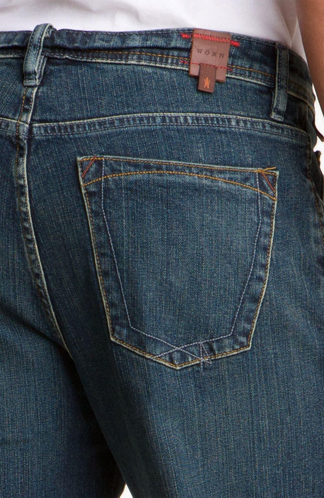 Alternate Image 3  - Worn Jeans 'Octane' Straight Leg Jeans (Dark Edge)