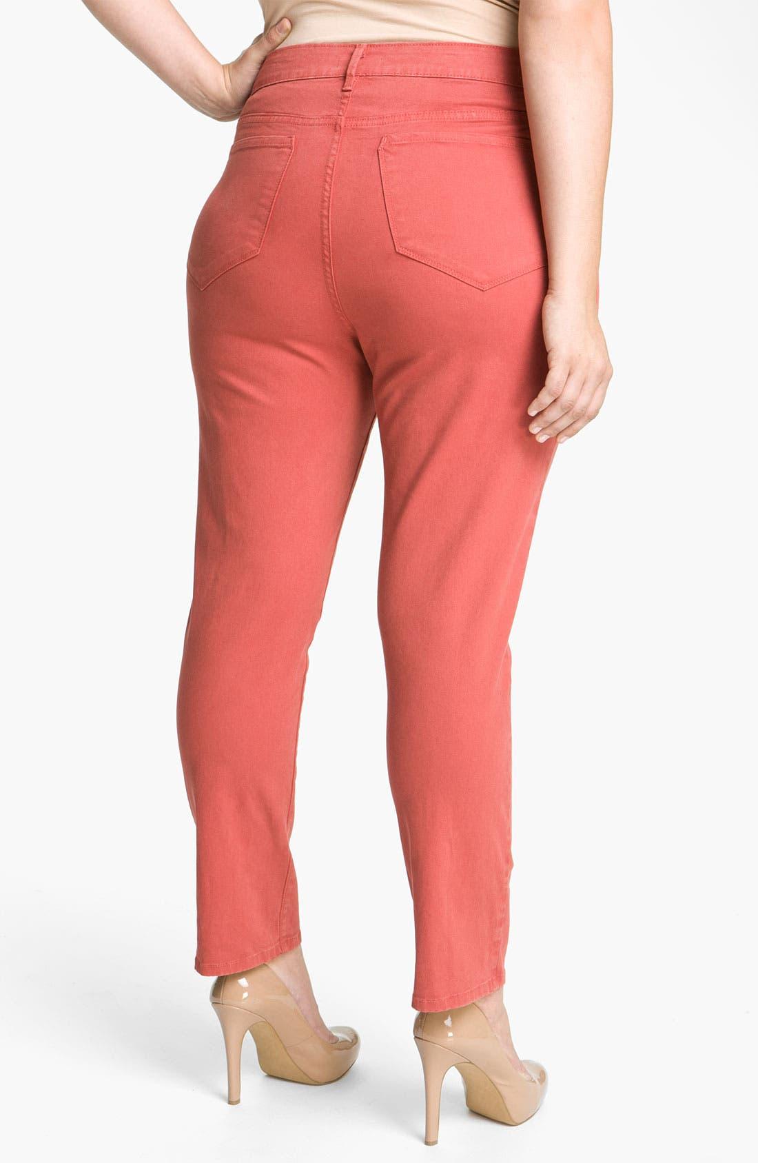 Alternate Image 2  - NYDJ 'Alisha' Skinny Ankle Jeans (Plus)