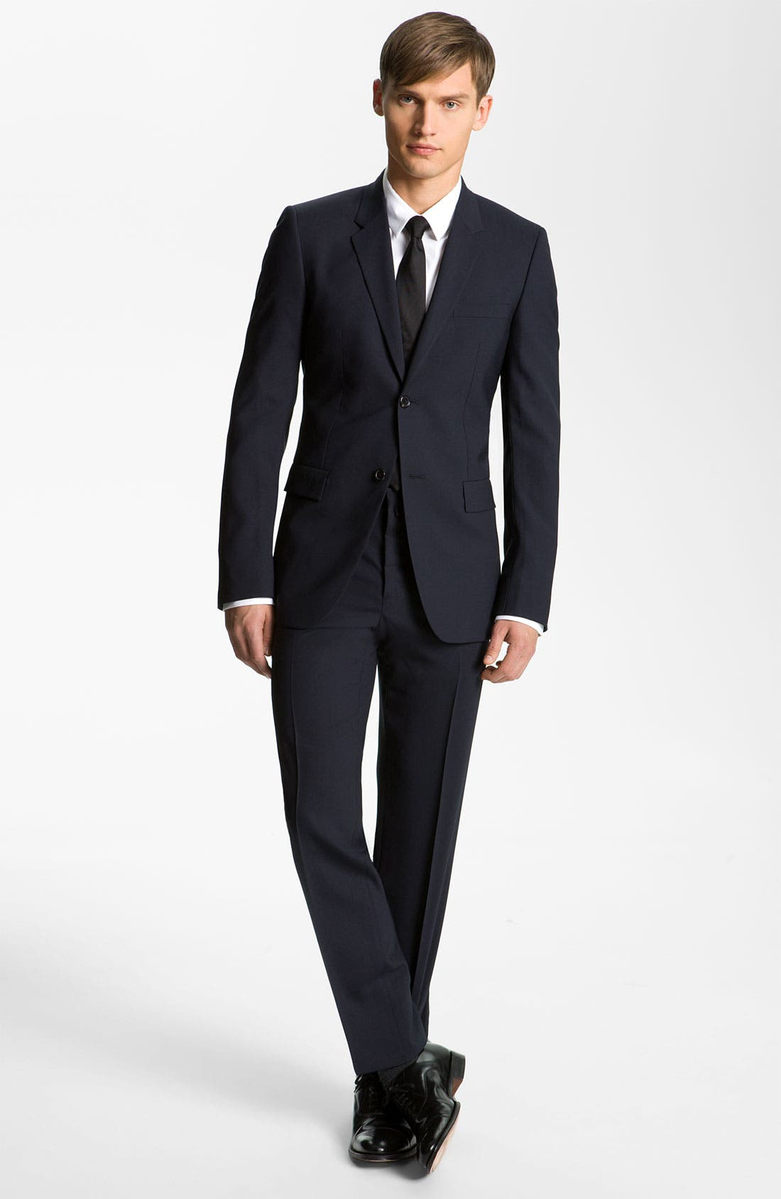 Stretch Wool Blend Suit,                             Alternate thumbnail 2, color,                             Dark Blue
