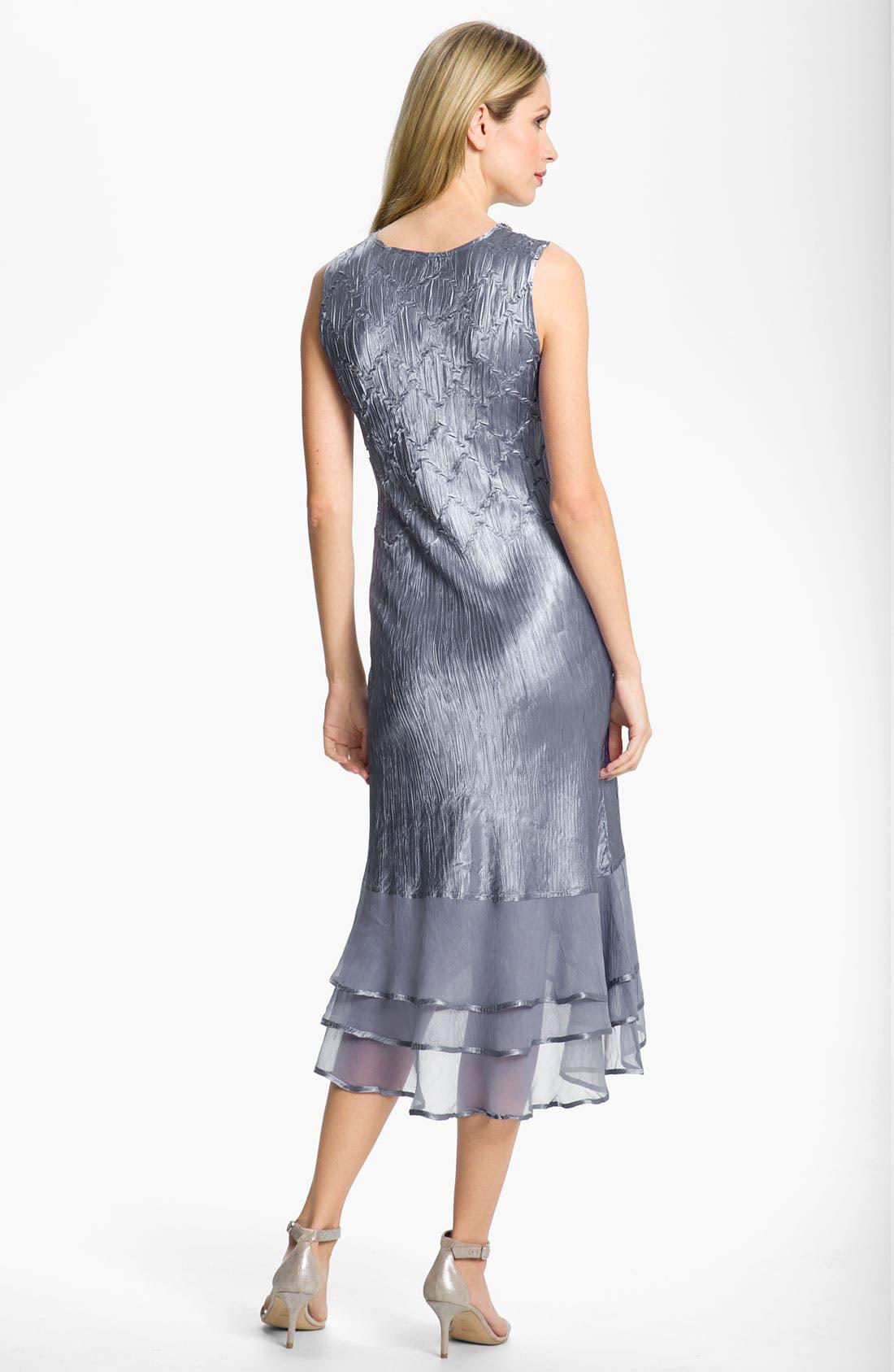Alternate Image 3  - Komarov Split Hem Charmeuse Dress & Jacket