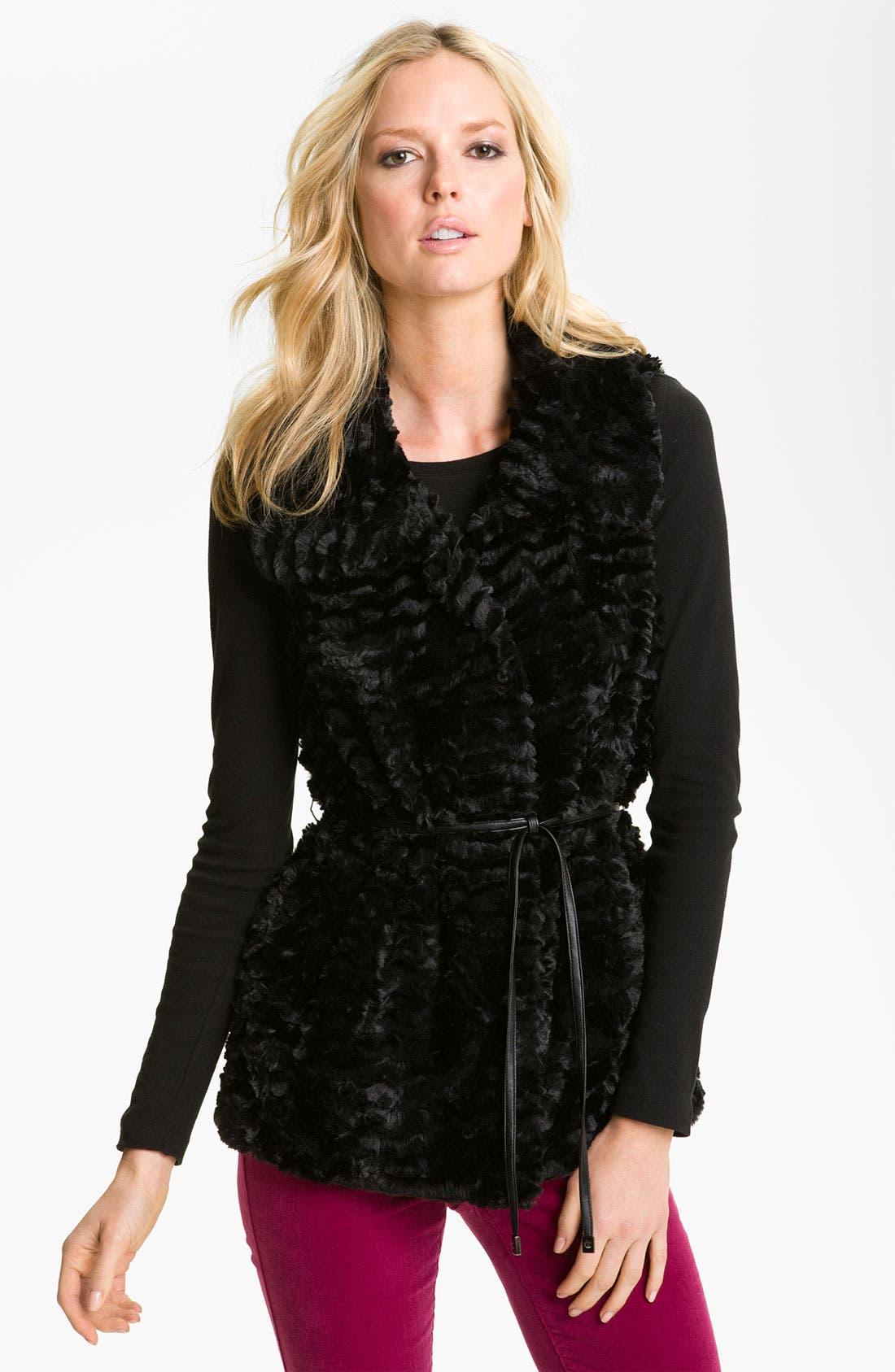 Main Image - Gallery Reversible Crushed Faux Fur Vest