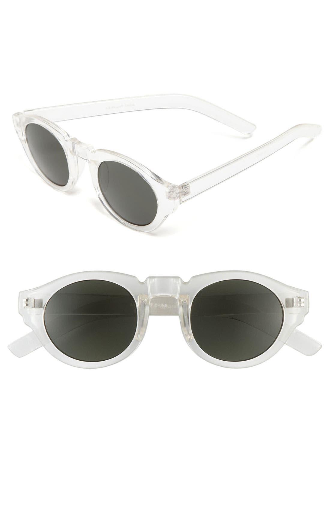 'Astro' Retro Sunglasses,                             Main thumbnail 1, color,                             Crystal
