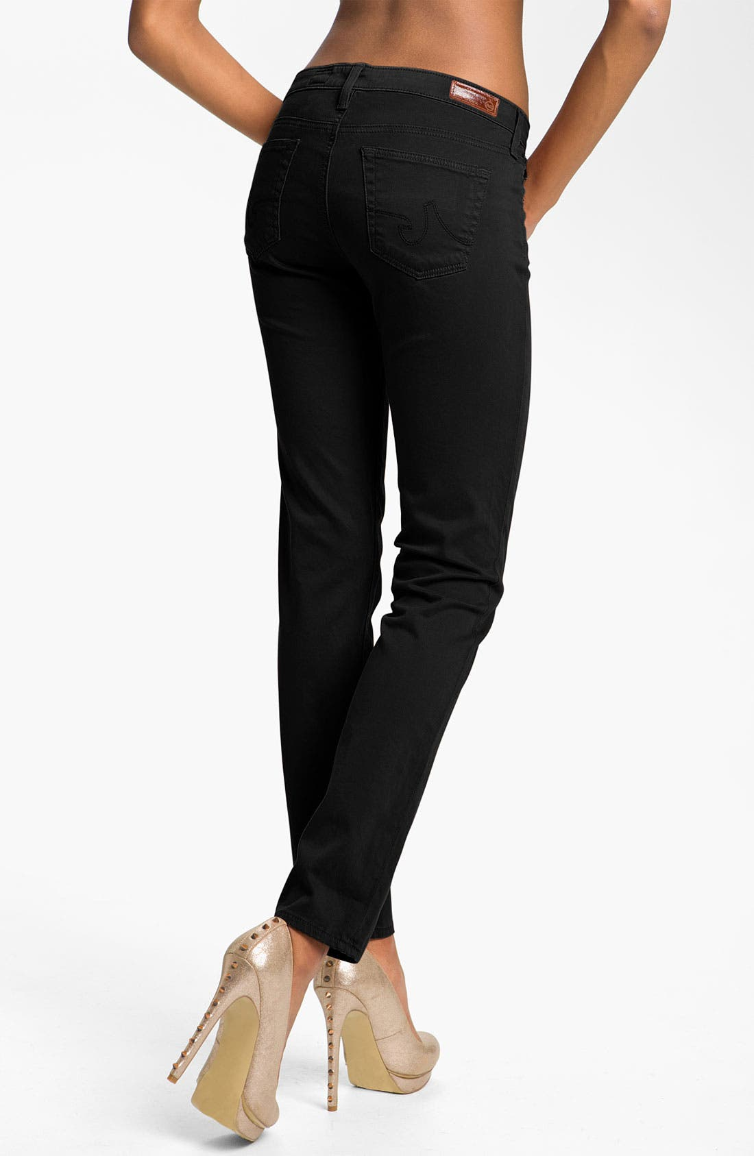 Alternate Image 2  - AG Jeans 'Stilt' Skinny Ankle Jeans (Super Black Wash)