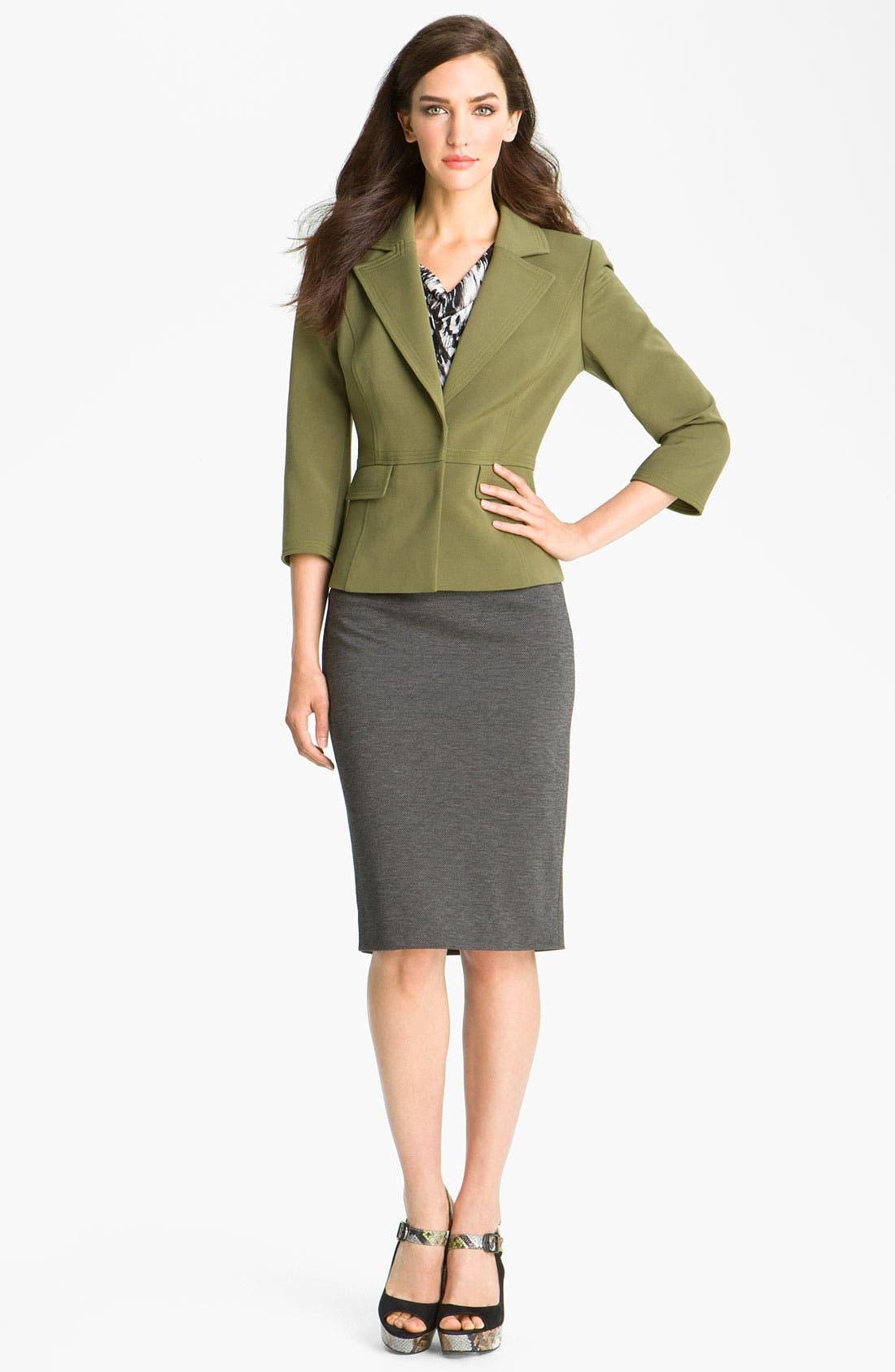Alternate Image 4  - Classiques Entier® 'Duomo' Knit Pencil Skirt