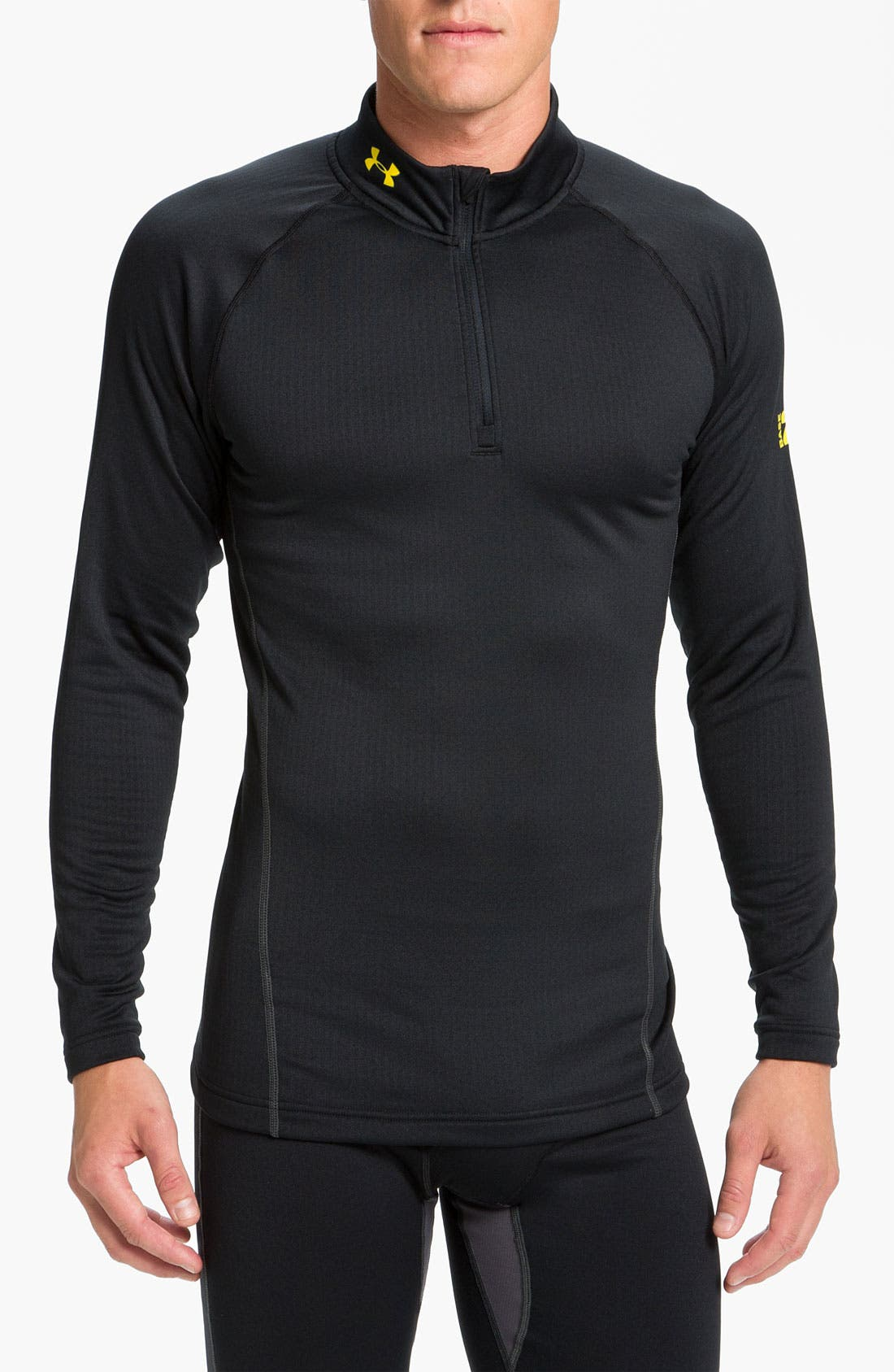 Main Image - Under Armour 'Base 2.0' Fitted Quarter Zip Pullover (Online Only)