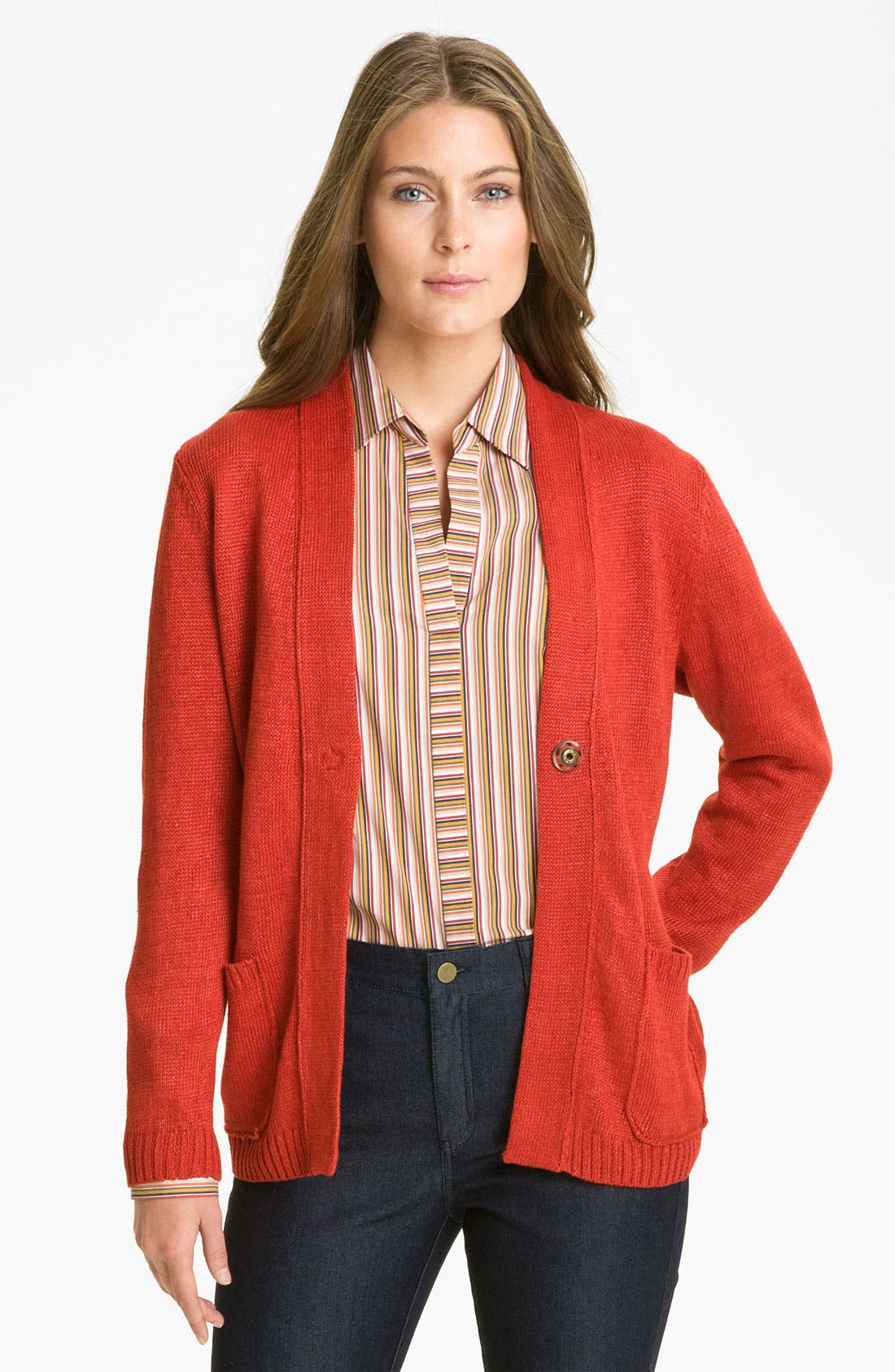 Alternate Image 1 Selected - Lafayette 148 New York 'Canapa Jeans' Cardigan