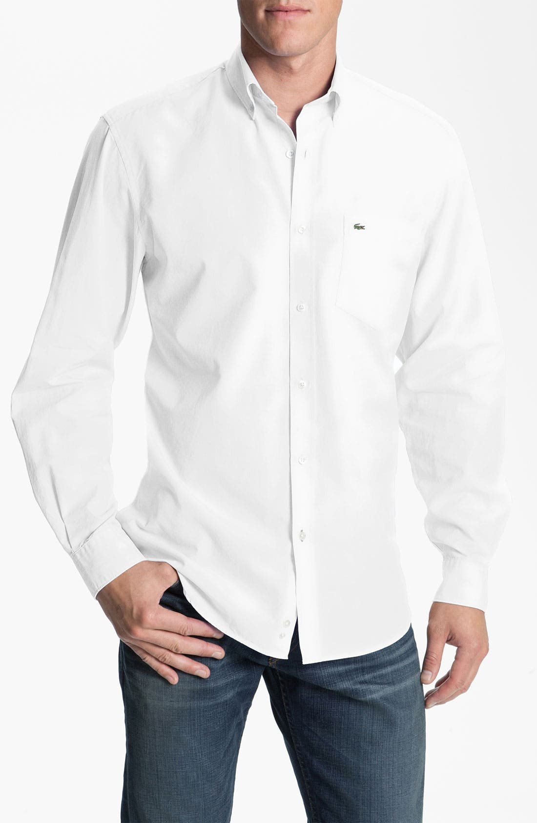 Alternate Image 1 Selected - Lacoste Woven Sport Shirt